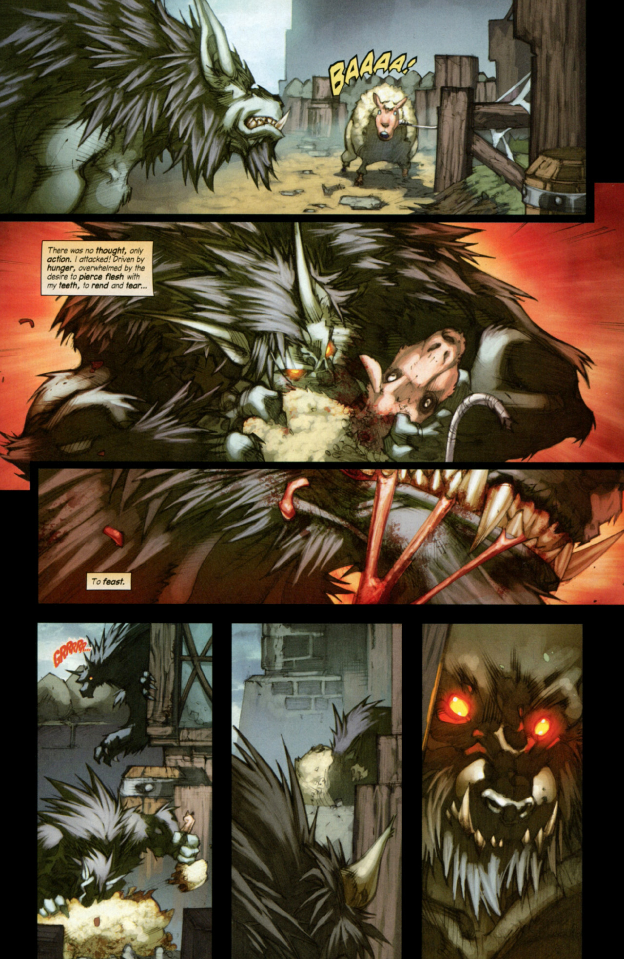 Read online World of Warcraft: Curse of the Worgen comic -  Issue #3 - 5