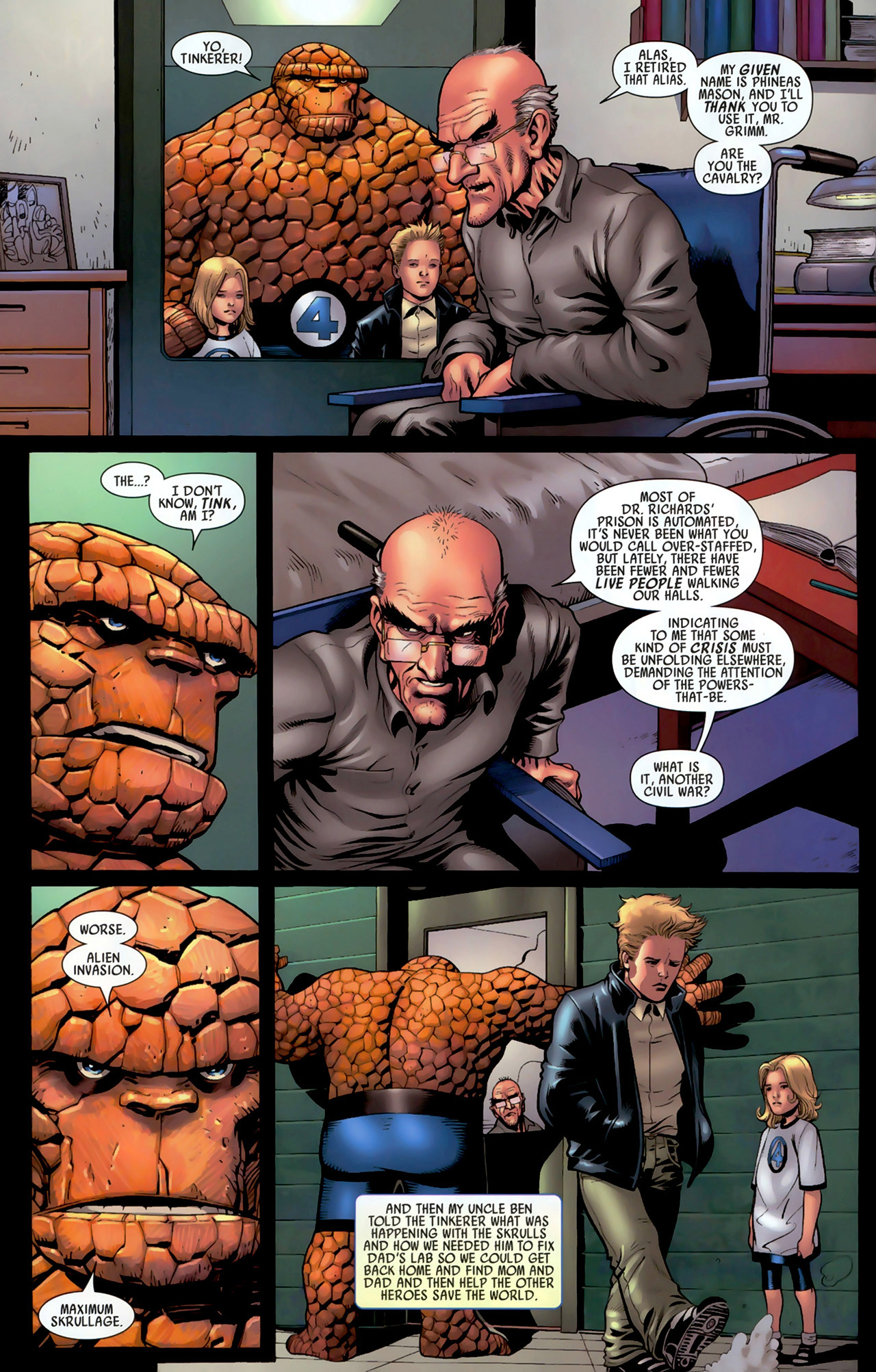 Read online Secret Invasion: Fantastic Four comic -  Issue #3 - 17
