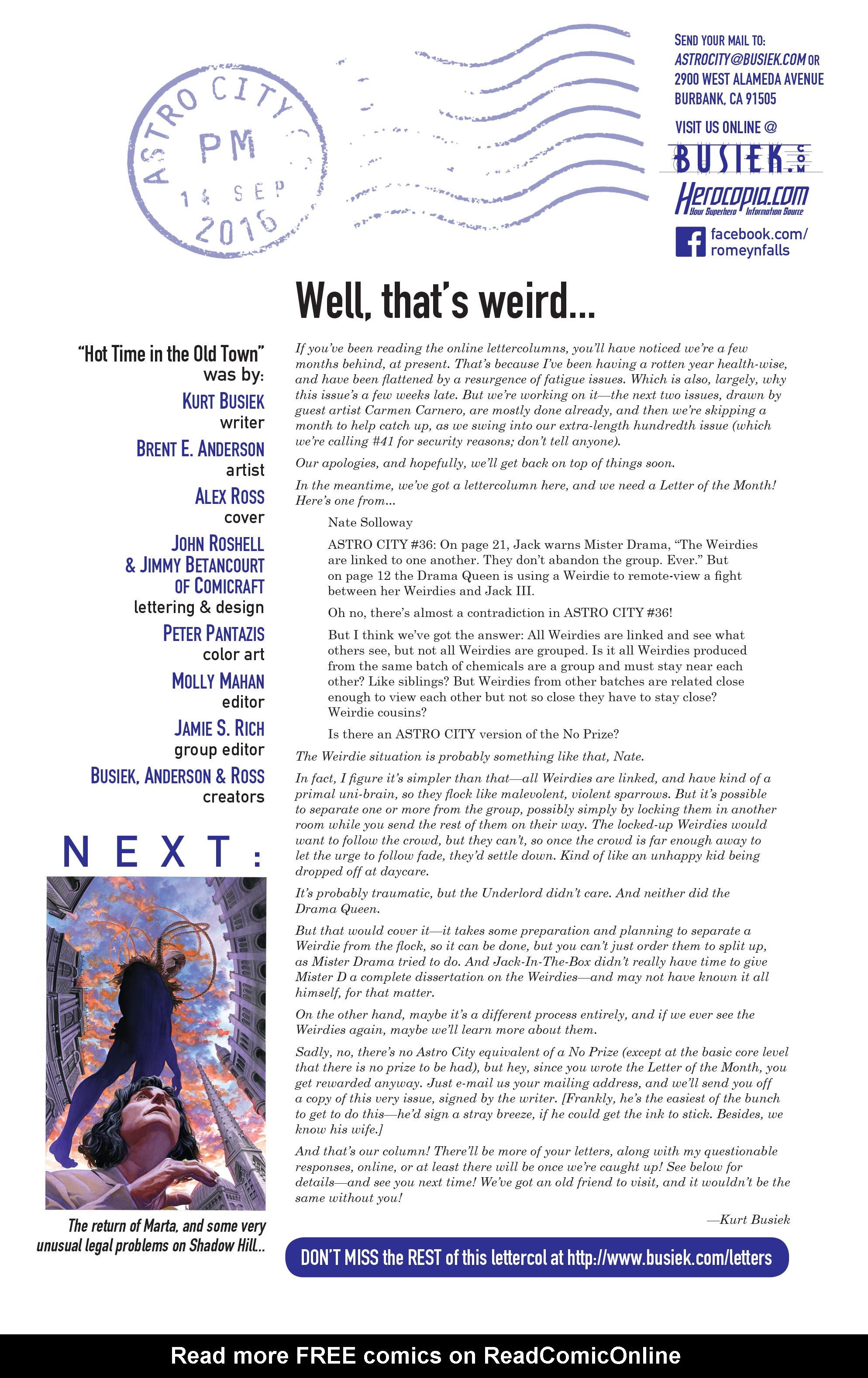Read online Astro City comic -  Issue #38 - 26