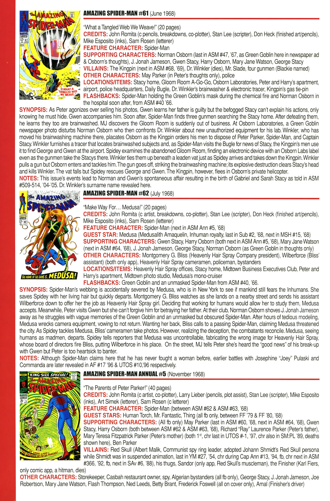 Read online Official Index to the Marvel Universe comic -  Issue #2 - 6