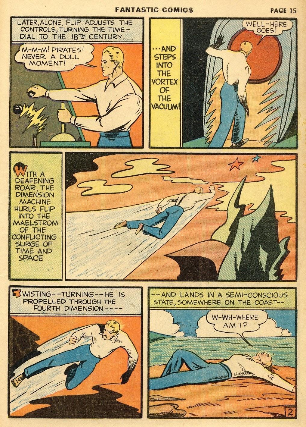Read online Fantastic Comics comic -  Issue #10 - 16