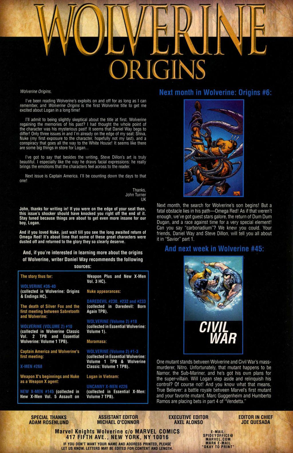 Read online Wolverine: Origins comic -  Issue #5 - 25