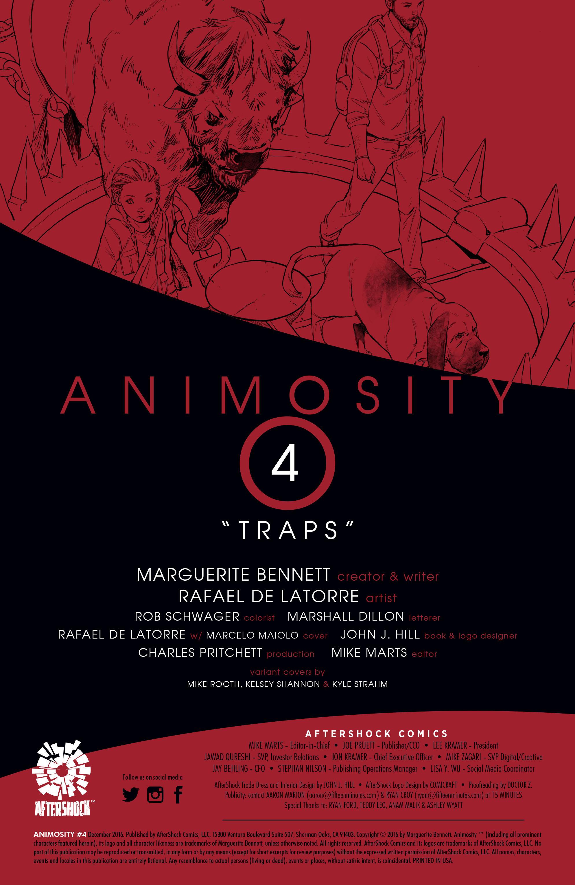 Read online Animosity comic -  Issue #4 - 2