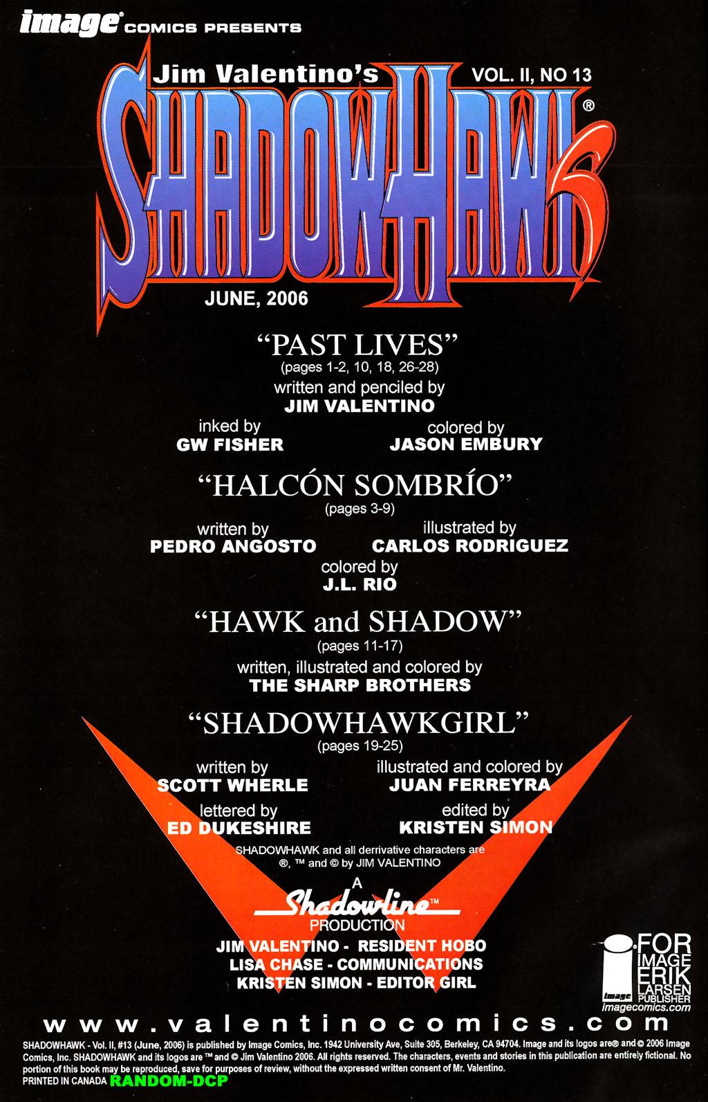 Read online ShadowHawk (2005) comic -  Issue #13 - 2