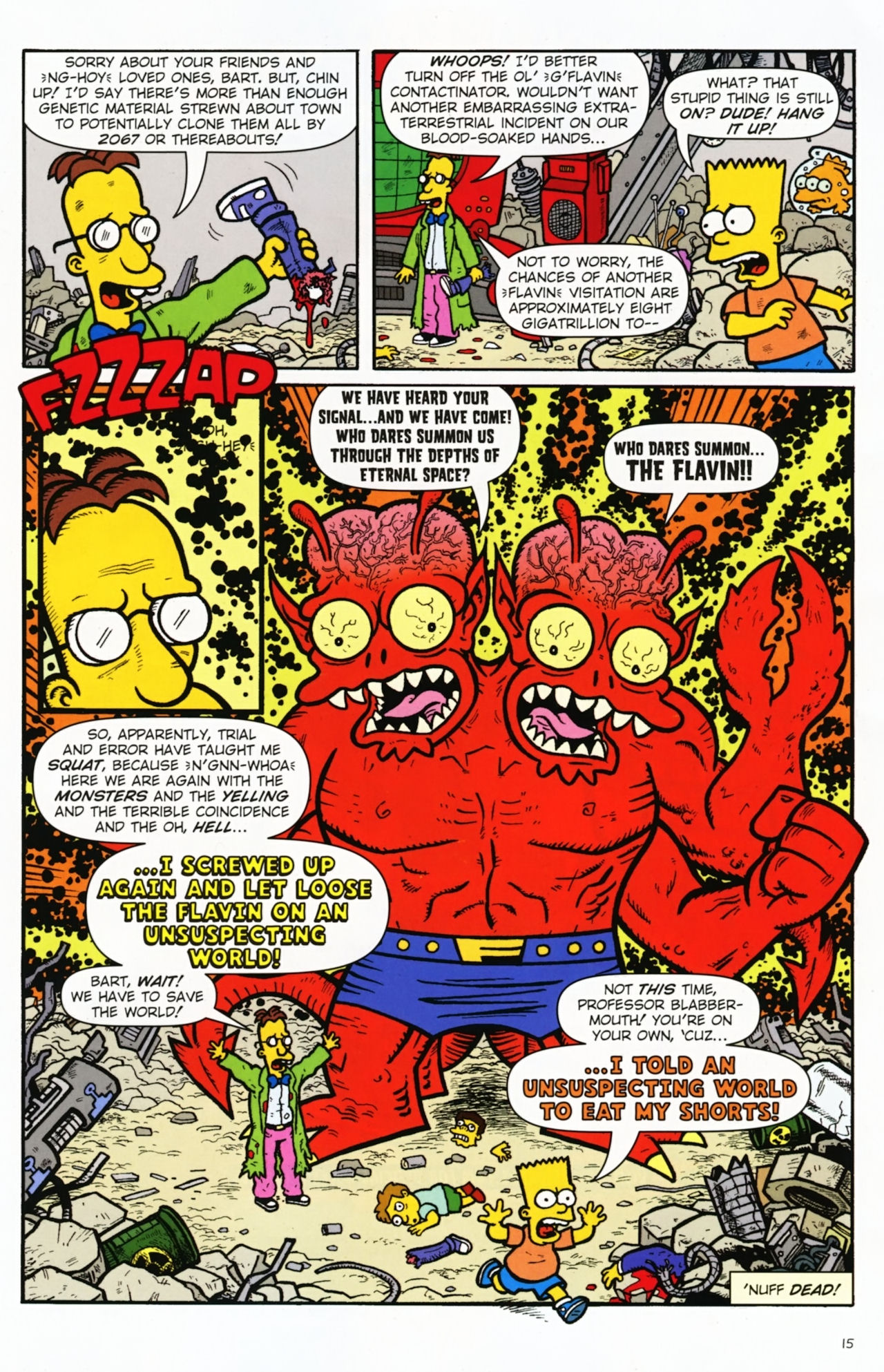 Read online Treehouse of Horror comic -  Issue #16 - 18