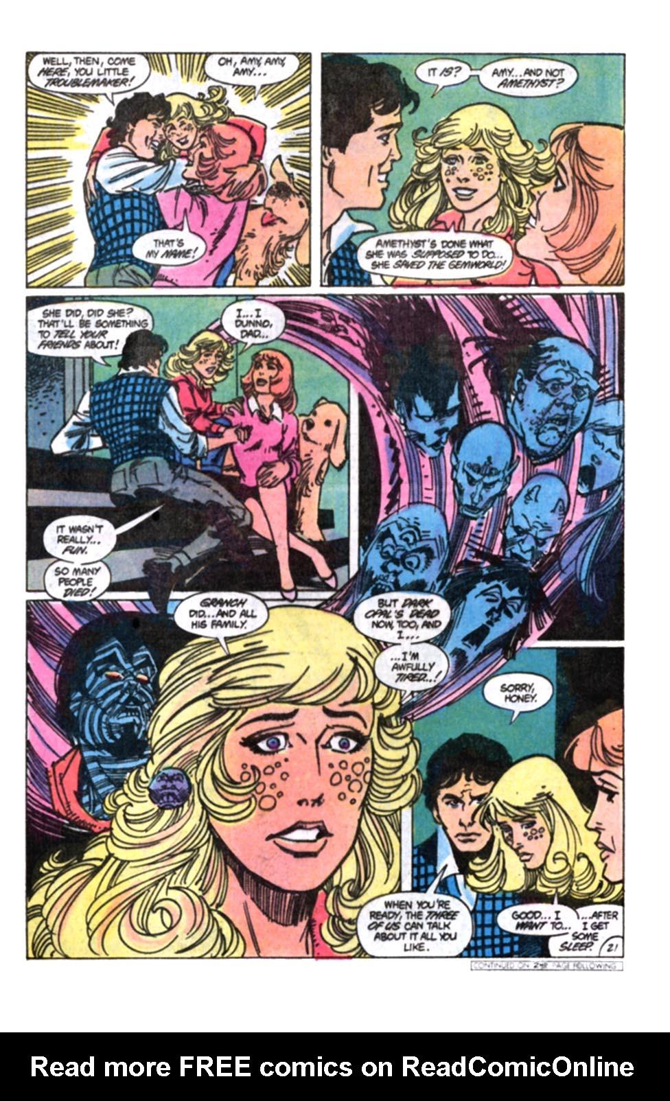 Read online Amethyst, Princess of Gemworld comic -  Issue #12 - 22