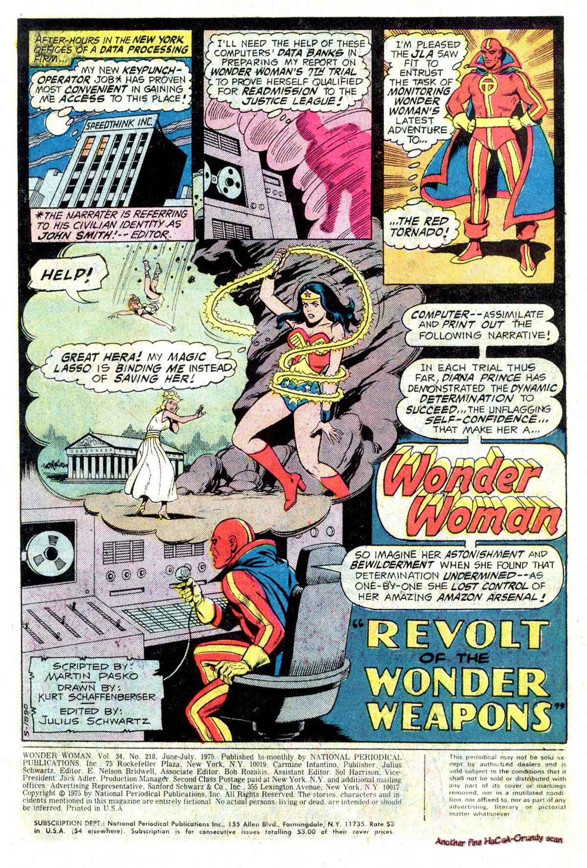 Read online Wonder Woman (1942) comic -  Issue #218 - 3