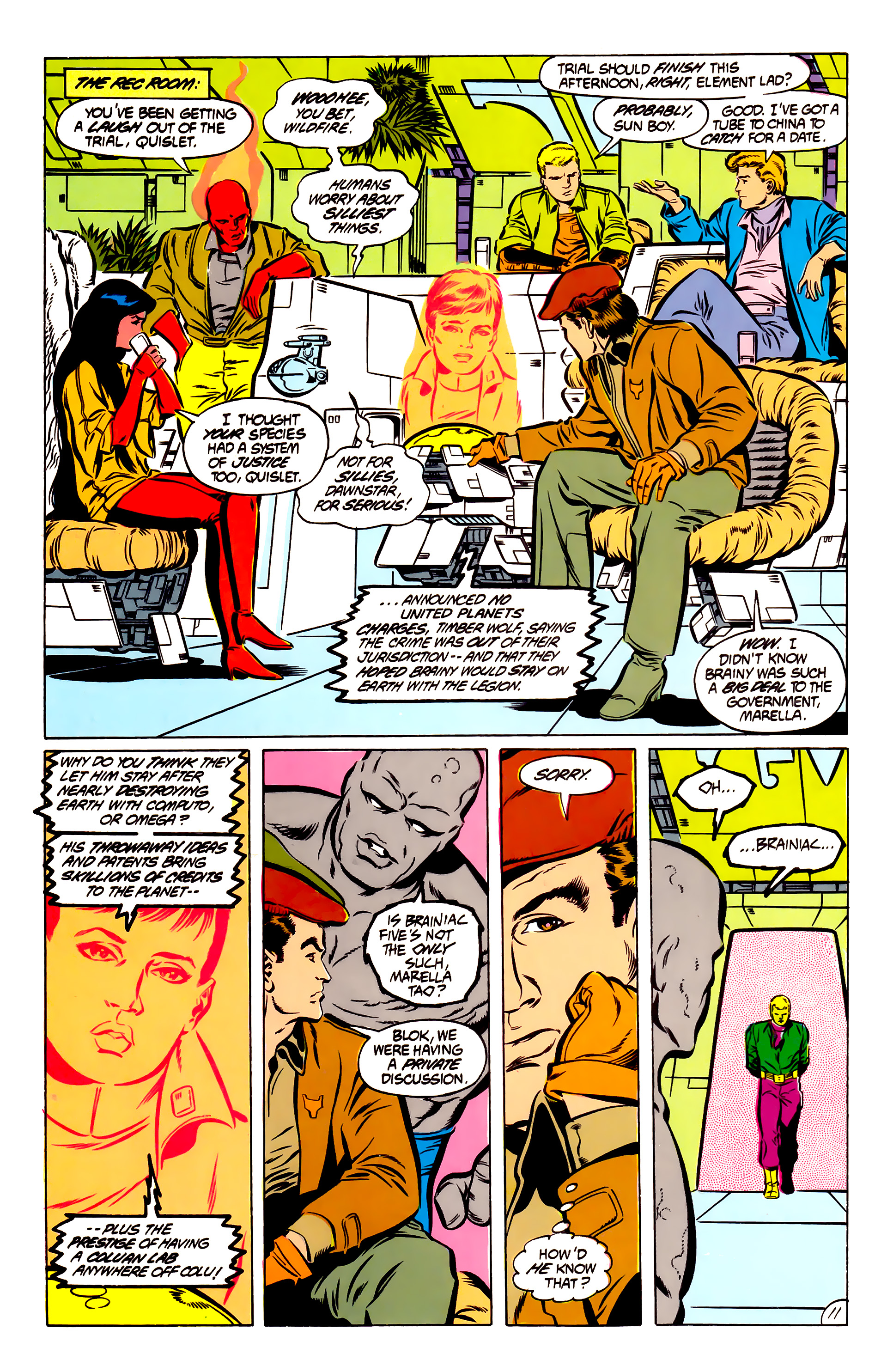 Legion of Super-Heroes (1984) 51 Page 11