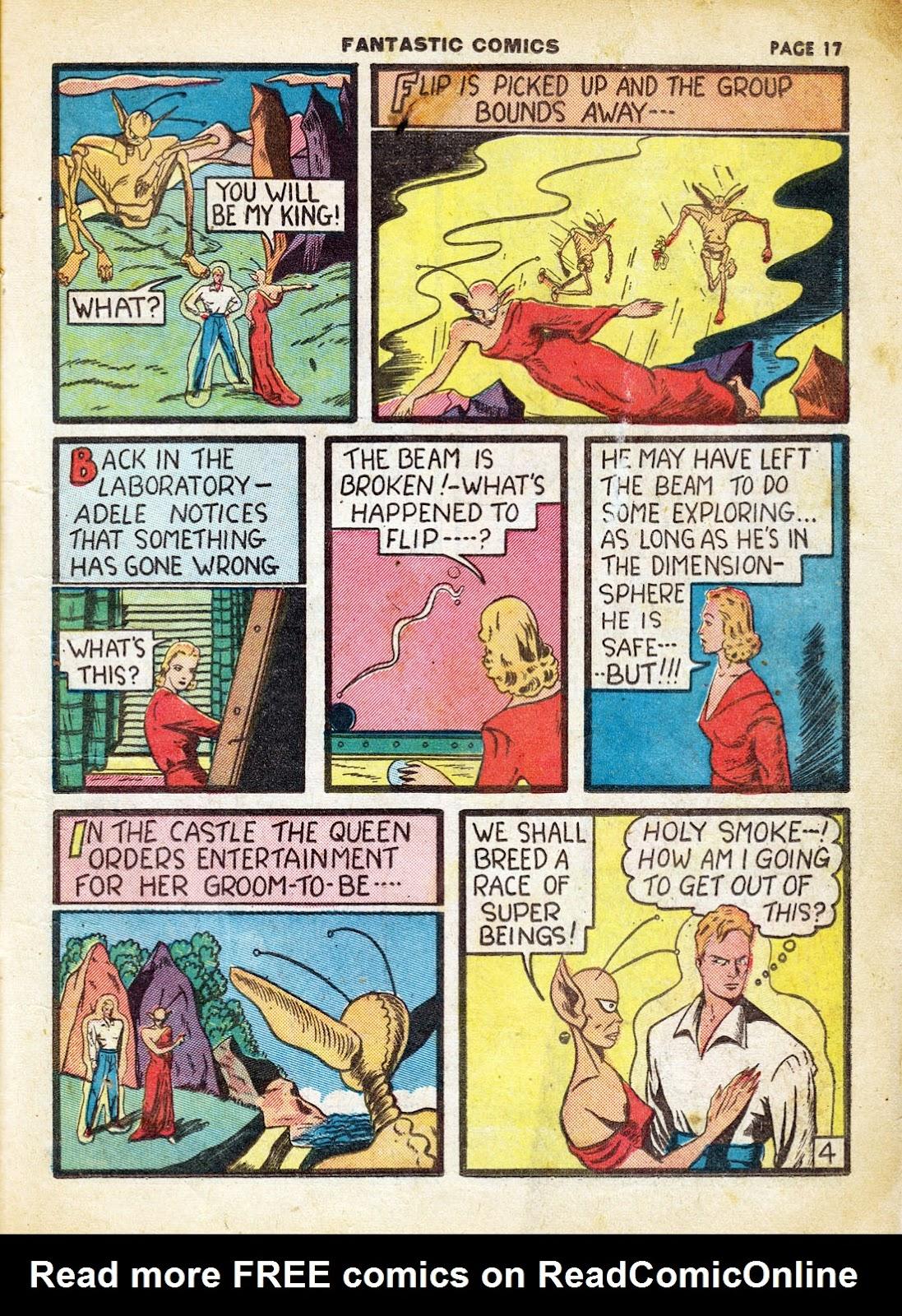 Read online Fantastic Comics comic -  Issue #7 - 19