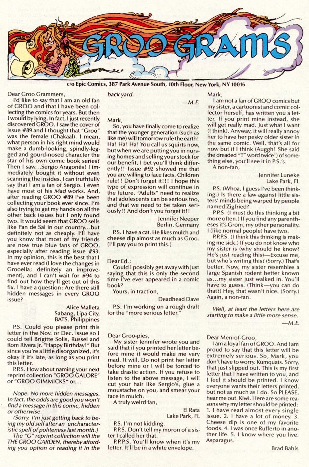 Read online Sergio Aragonés Groo the Wanderer comic -  Issue #98 - 29