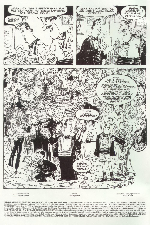 Read online Sergio Aragonés Groo the Wanderer comic -  Issue #100 - 2