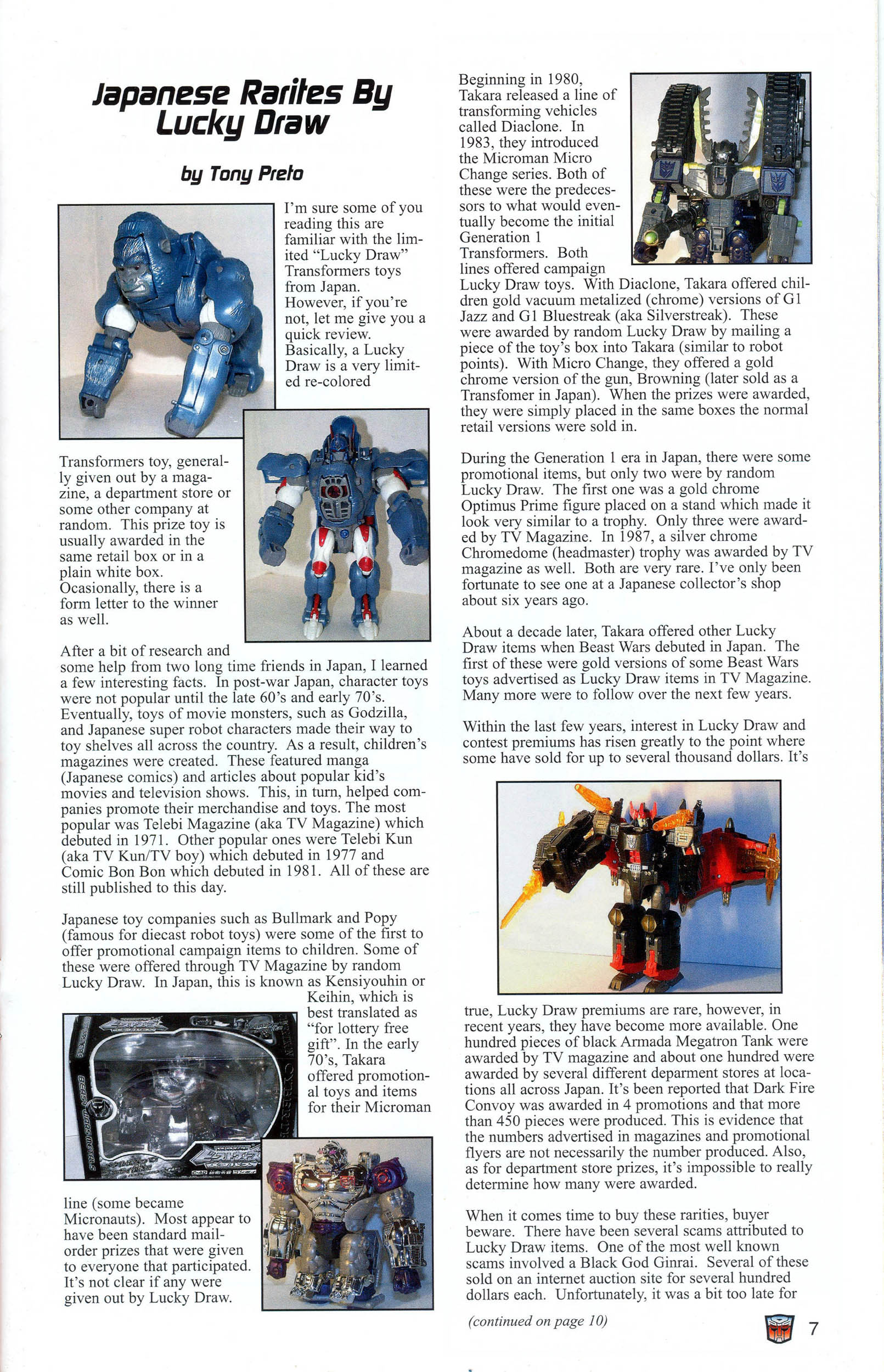 Read online Transformers: Collectors' Club comic -  Issue #7 - 7