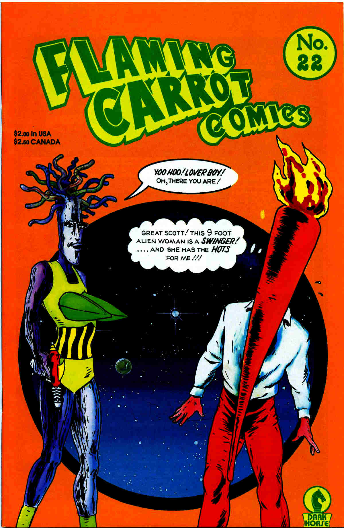 Read online Flaming Carrot Comics (1988) comic -  Issue #22 - 1