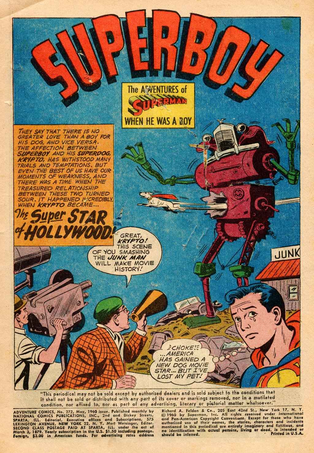 Read online Adventure Comics (1938) comic -  Issue #272 - 3
