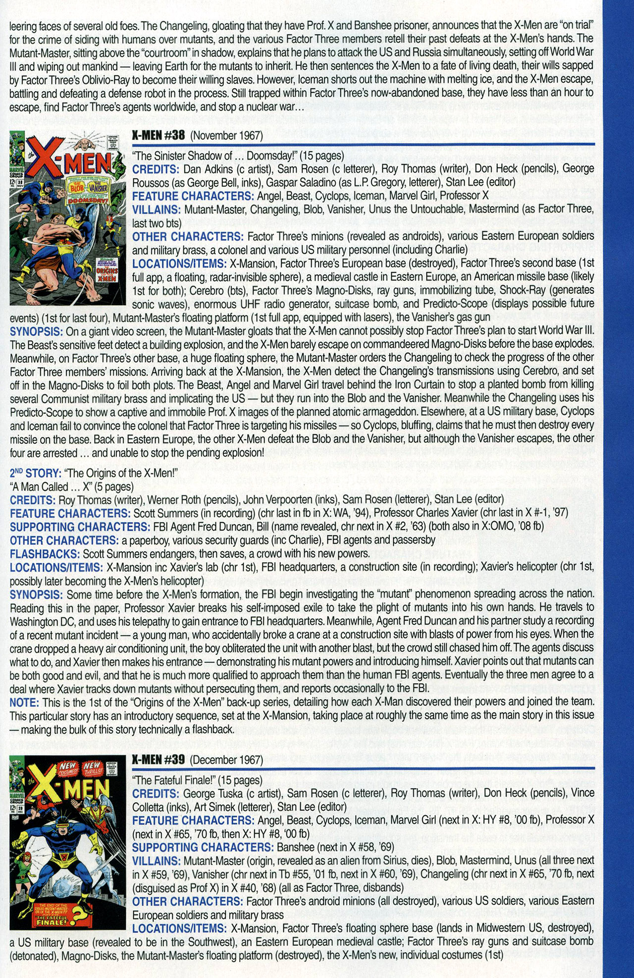 Read online Official Index to the Marvel Universe comic -  Issue #1 - 59