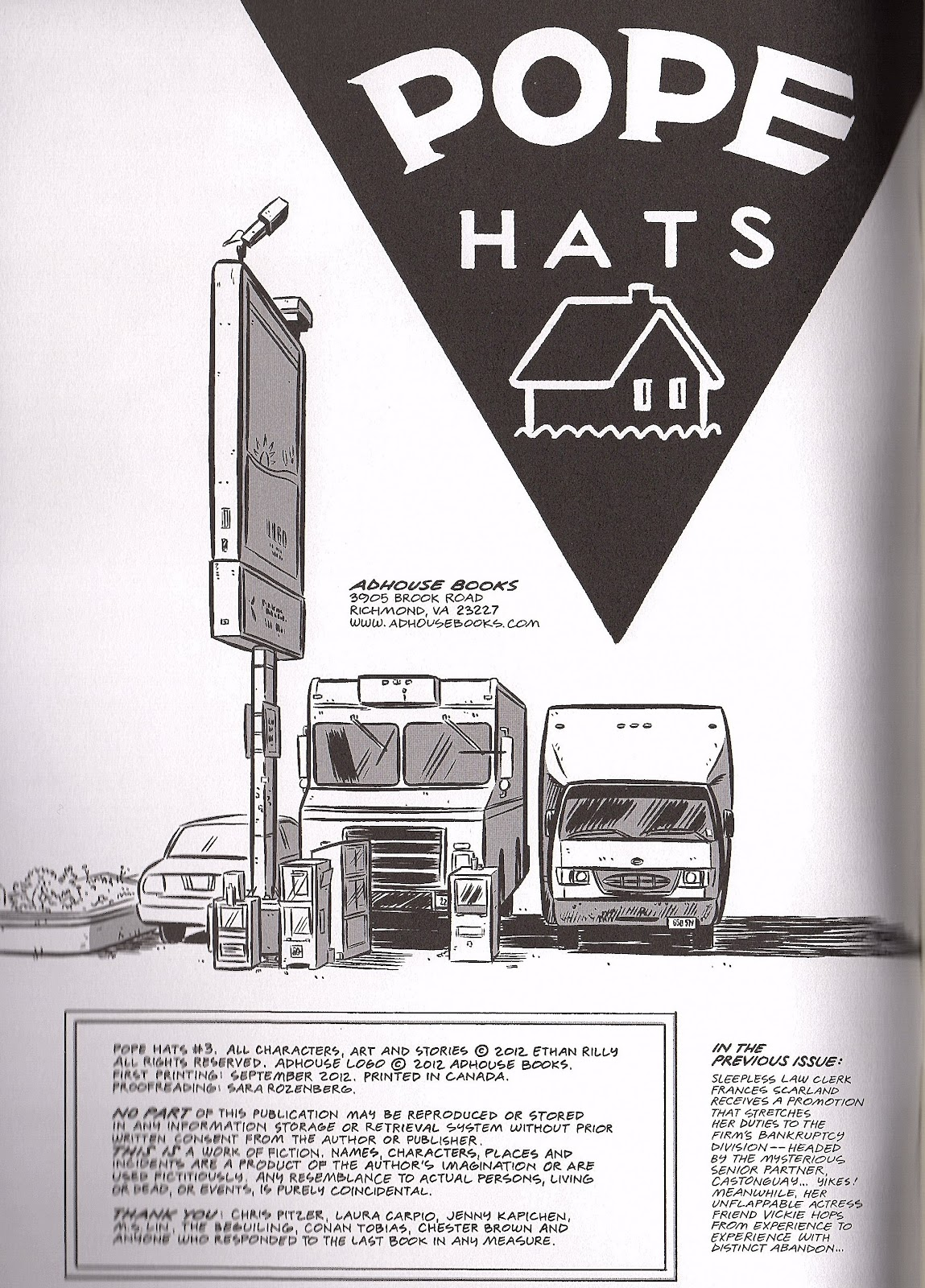 Read online Pope Hats comic -  Issue #3 - 2
