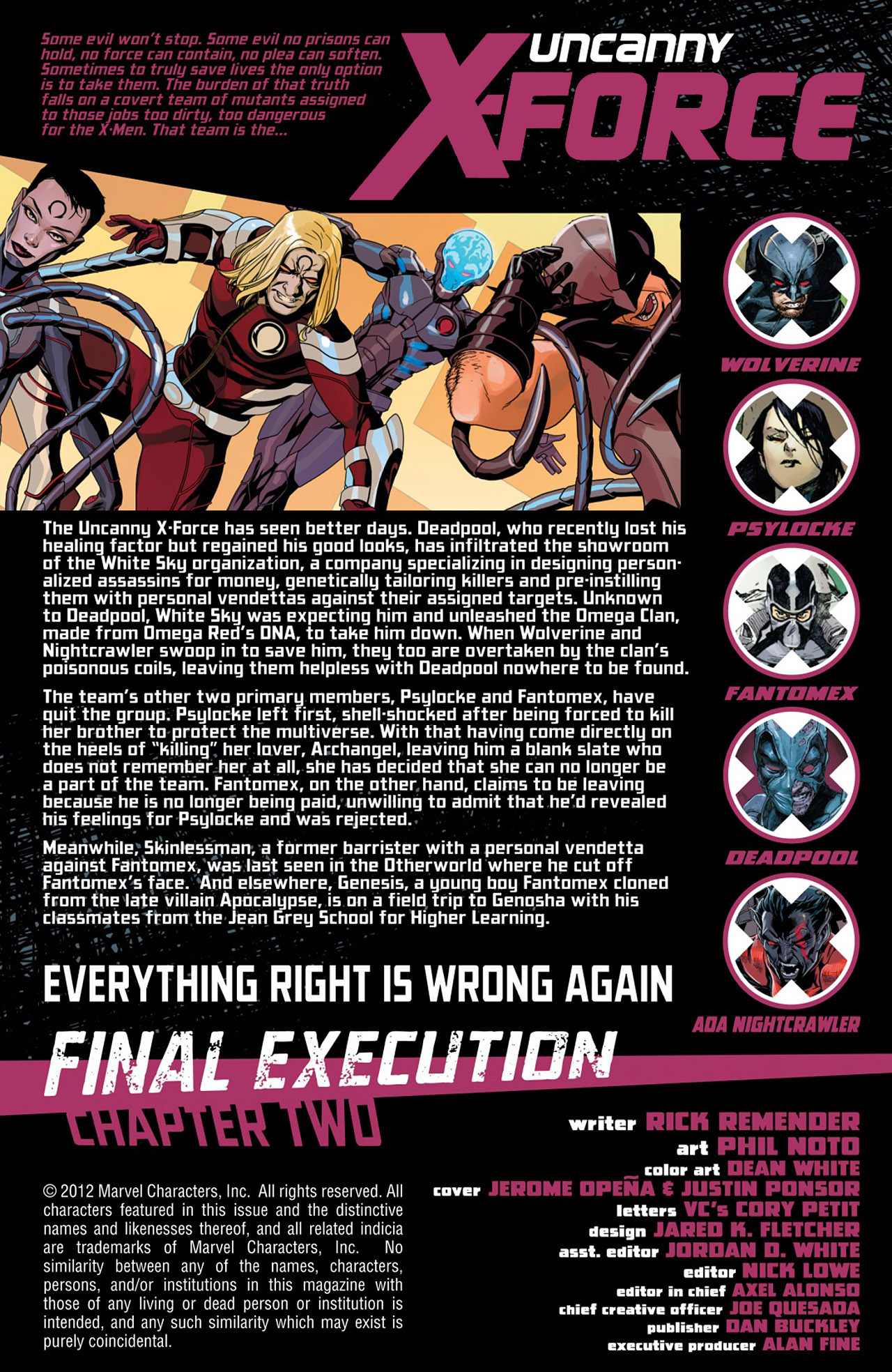 Read online Uncanny X-Force (2010) comic -  Issue #26 - 2