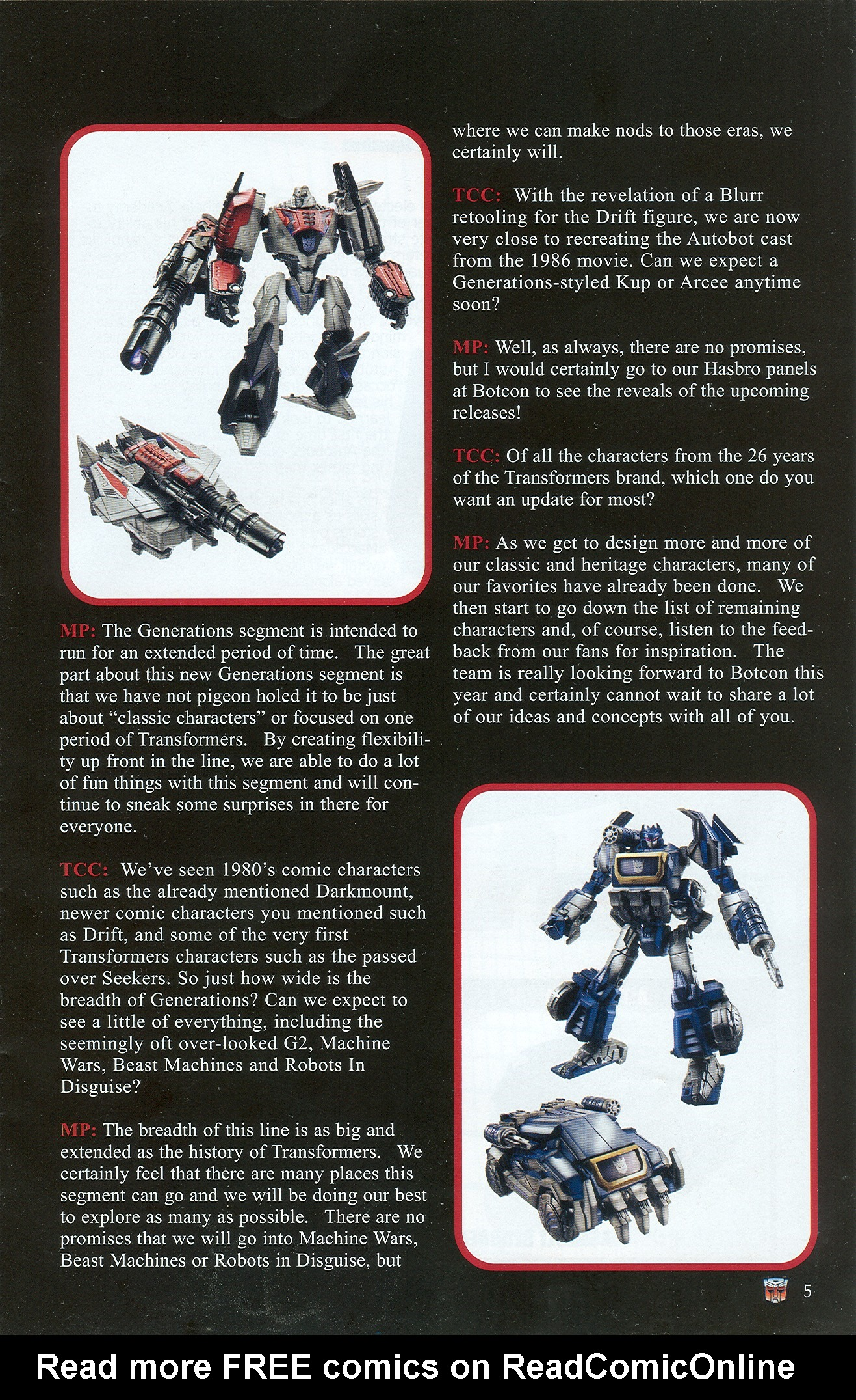 Read online Transformers: Collectors' Club comic -  Issue #33 - 5