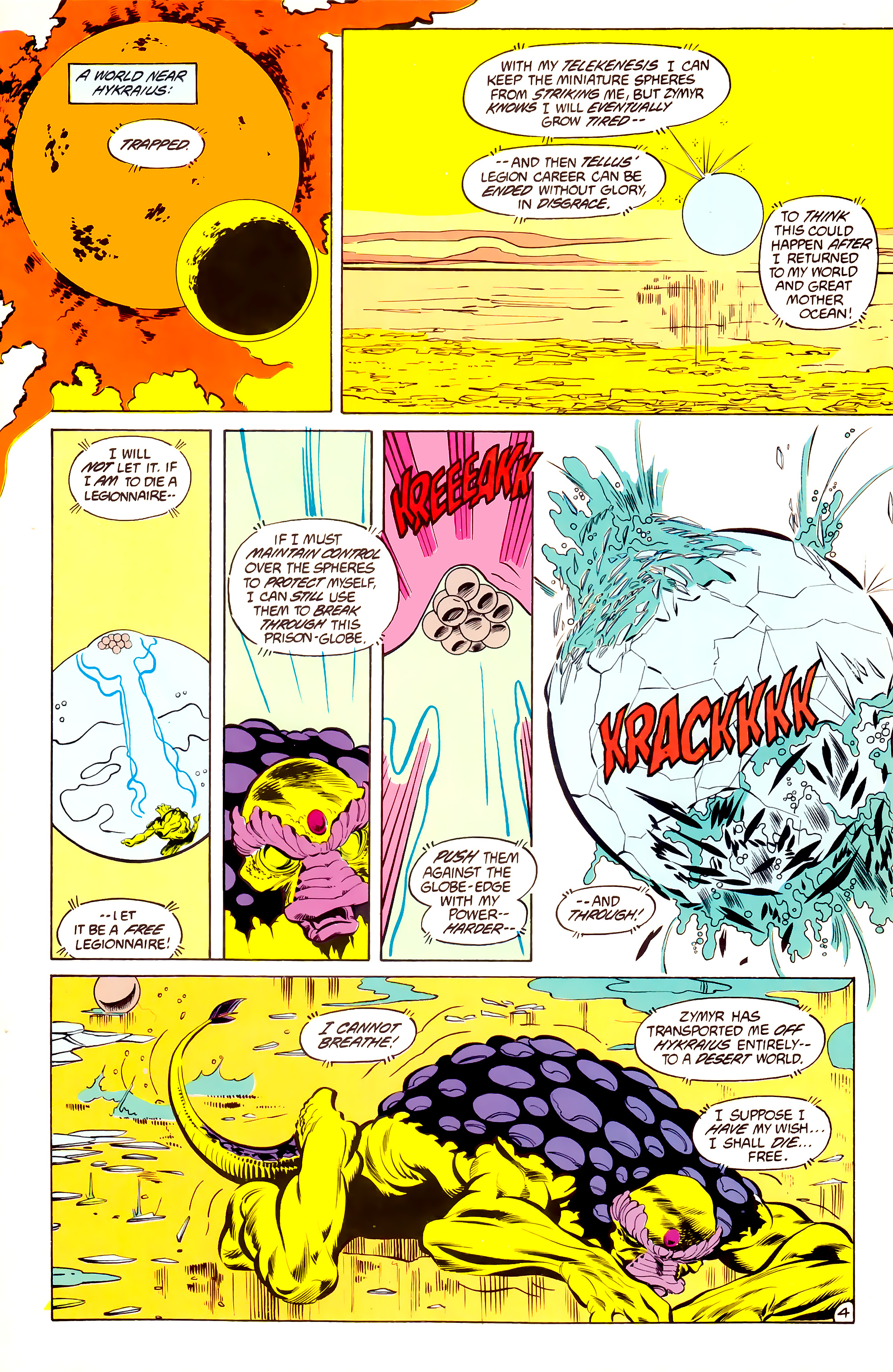 Legion of Super-Heroes (1984) 34 Page 4