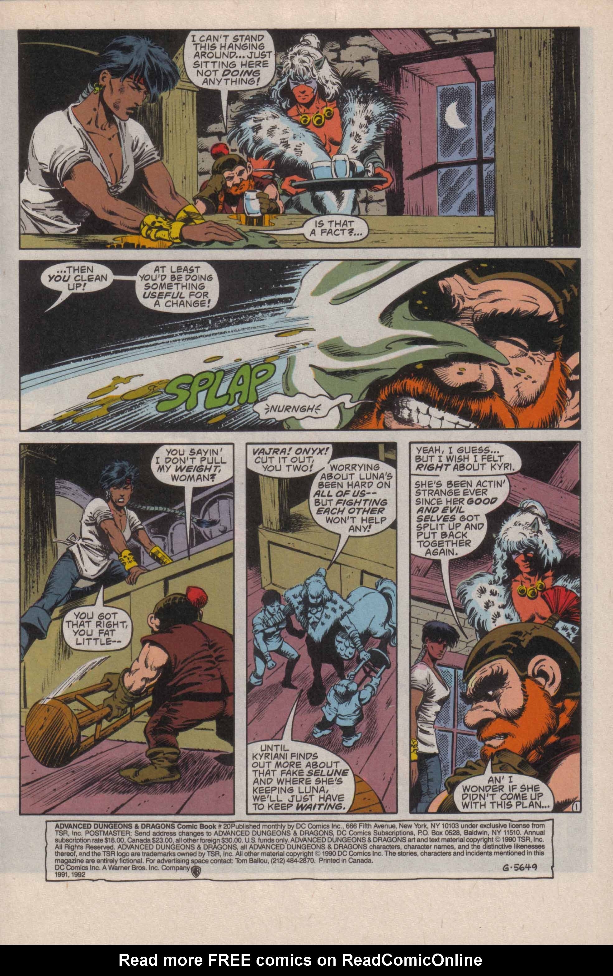 Read online Advanced Dungeons & Dragons comic -  Issue #20 - 2