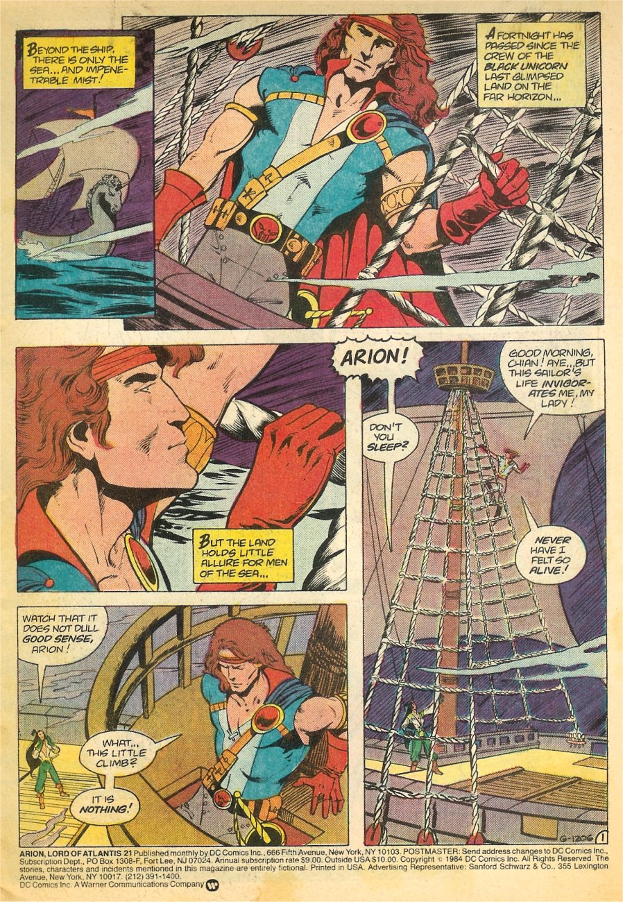 Read online Arion, Lord of Atlantis comic -  Issue #21 - 2