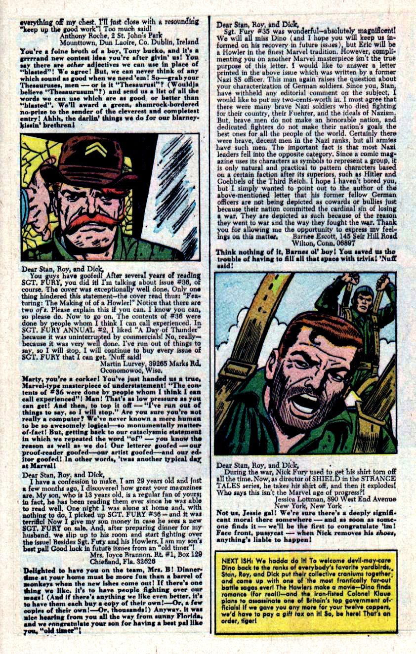 Read online Sgt. Fury comic -  Issue #40 - 33