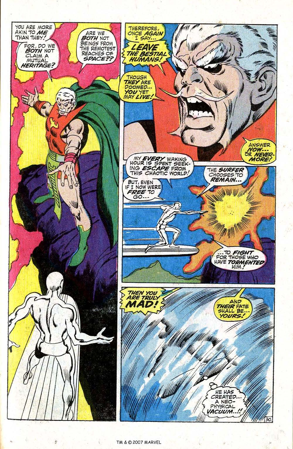 Read online Silver Surfer (1968) comic -  Issue #5 - 37
