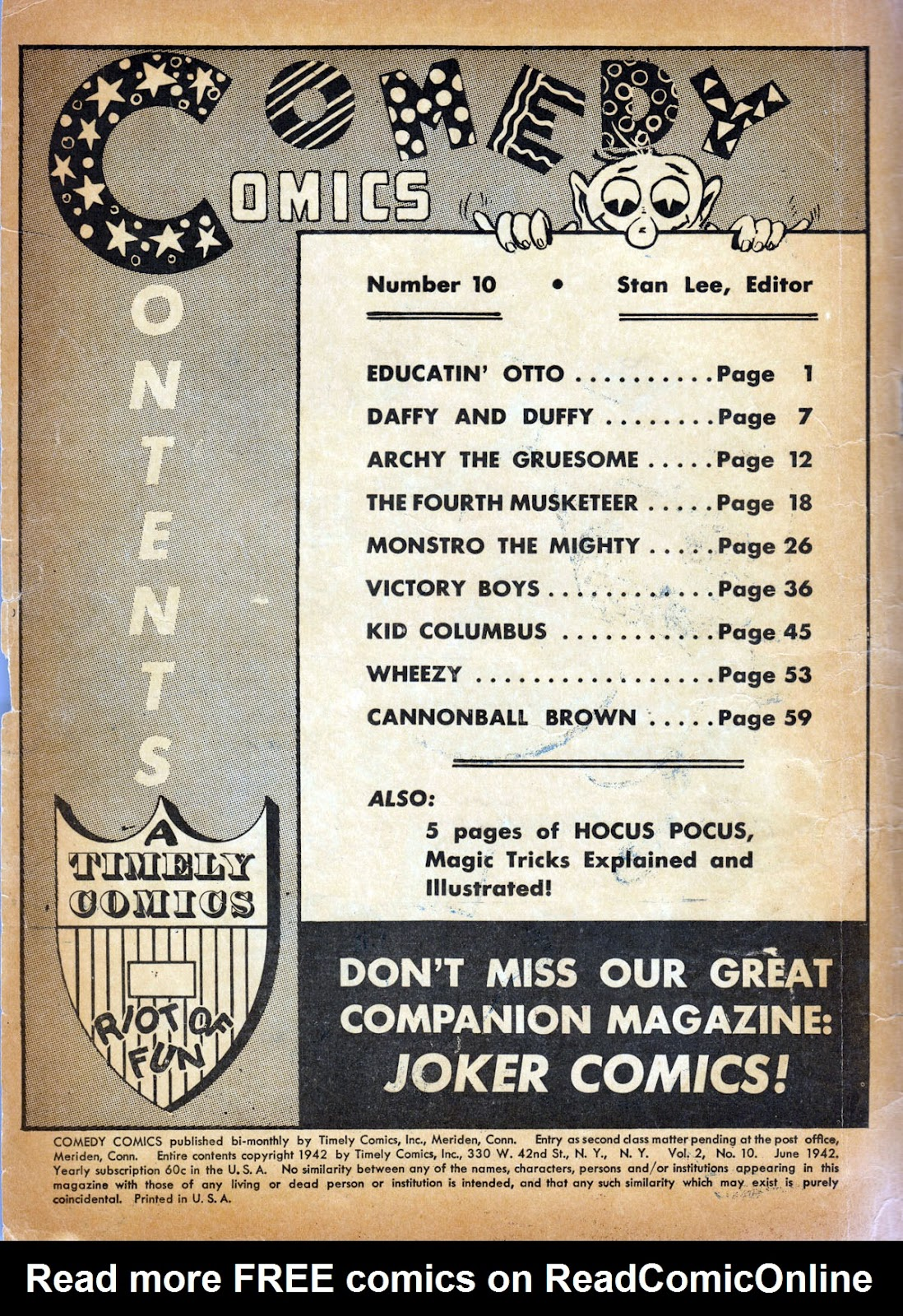 Read online Comedy Comics (1942) comic -  Issue #10 - 2