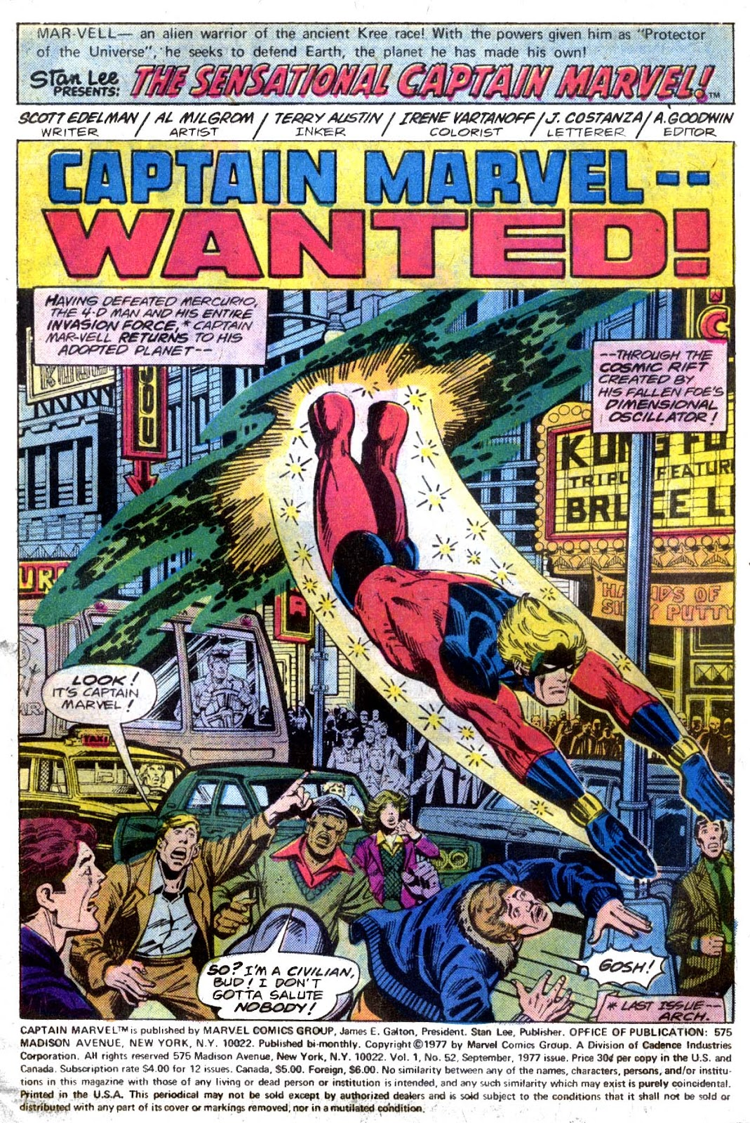 Captain Marvel (1968) issue 52 - Page 2
