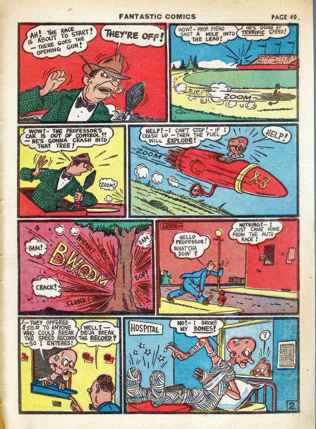 Read online Fantastic Comics comic -  Issue #7 - 51