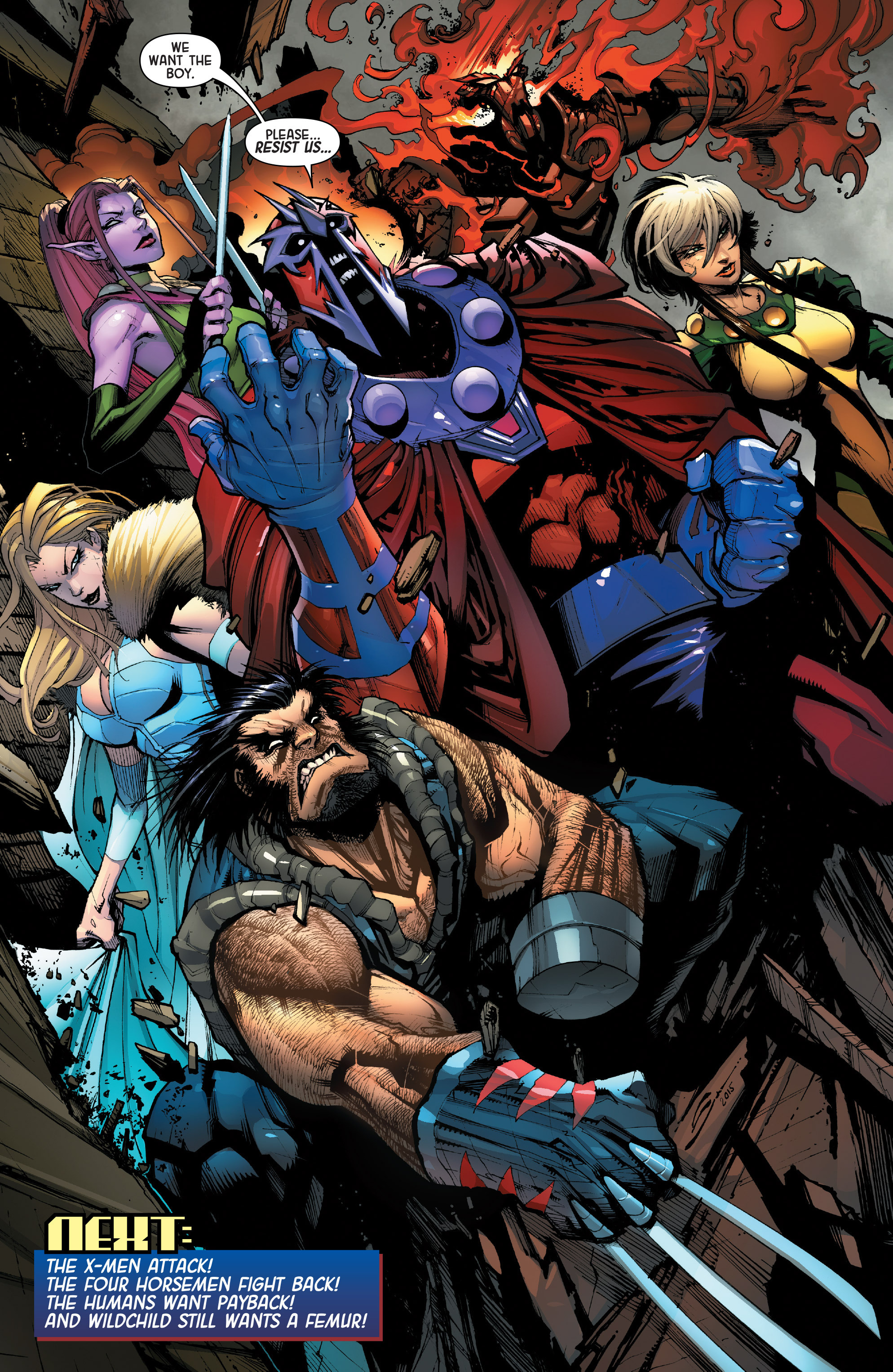 Read online Age of Apocalypse (2015) comic -  Issue #1 - 31