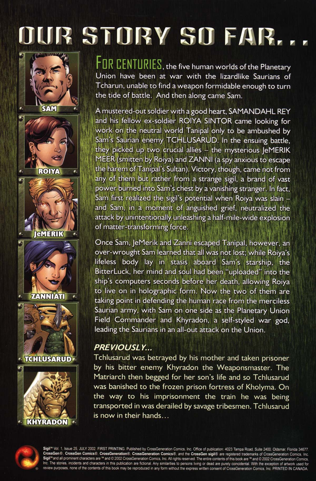 Read online Sigil (2000) comic -  Issue #25 - 2