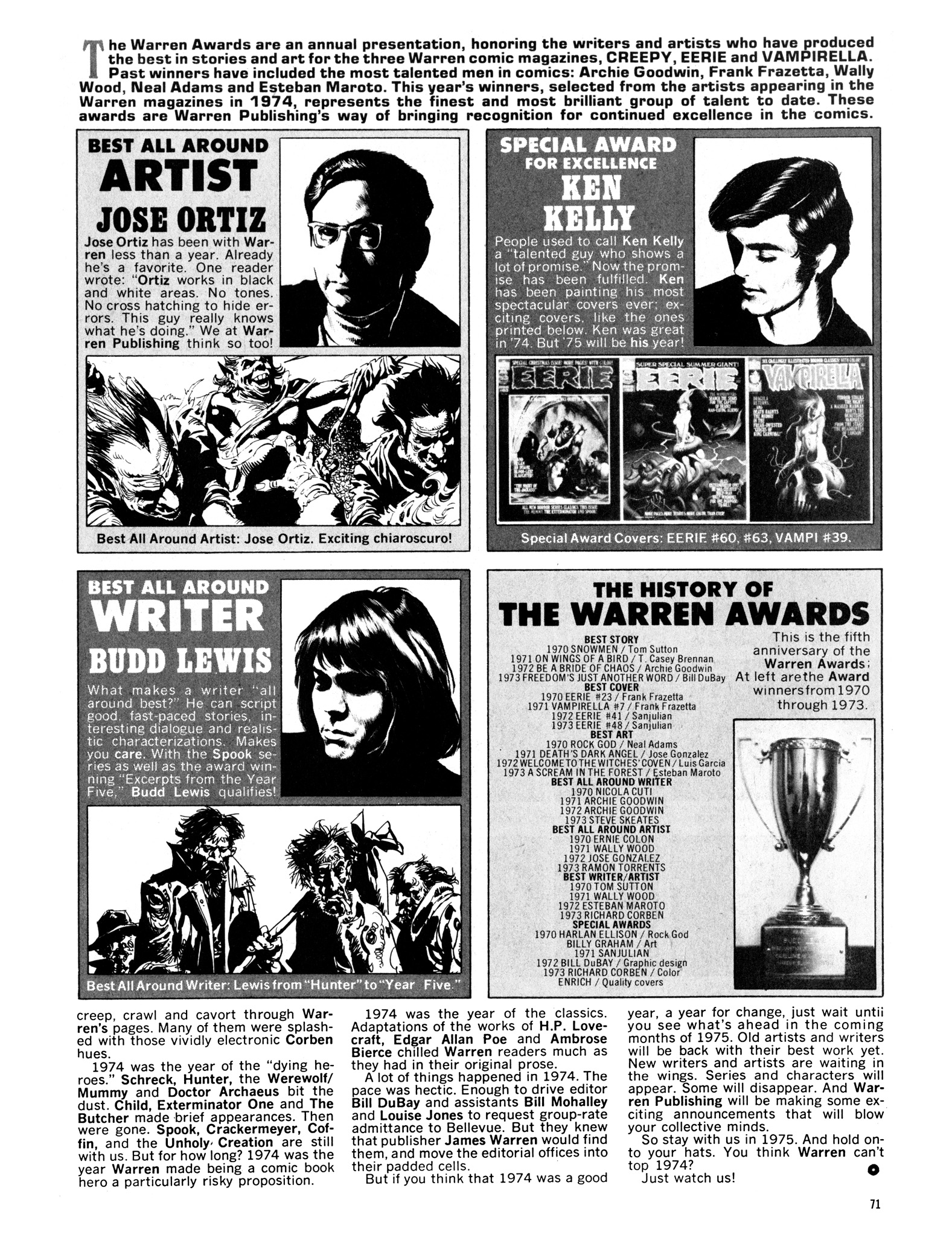 Read online Eerie Archives comic -  Issue # TPB 14 - 72