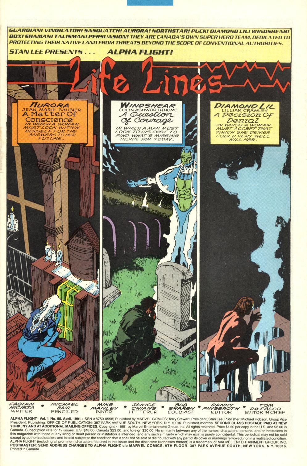 Read online Alpha Flight (1983) comic -  Issue #95 - 2