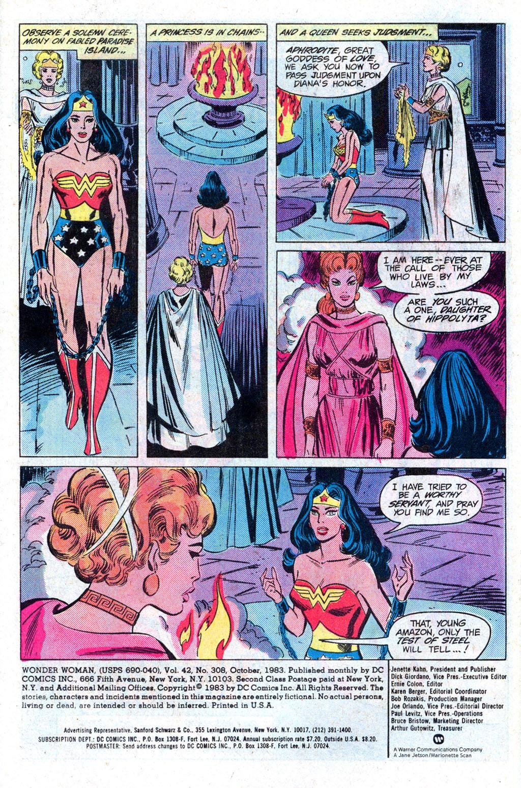 Read online Wonder Woman (1942) comic -  Issue #308 - 3