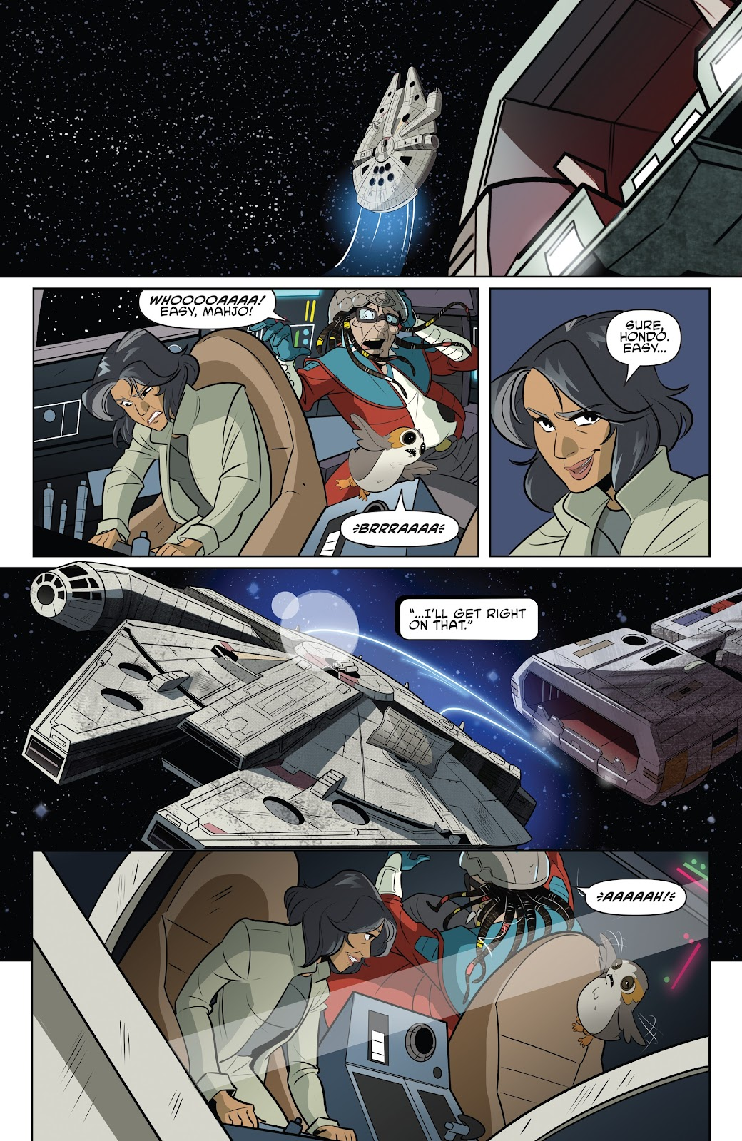 Read online Star Wars Adventures: Flight of the Falcon comic -  Issue # Full - 21