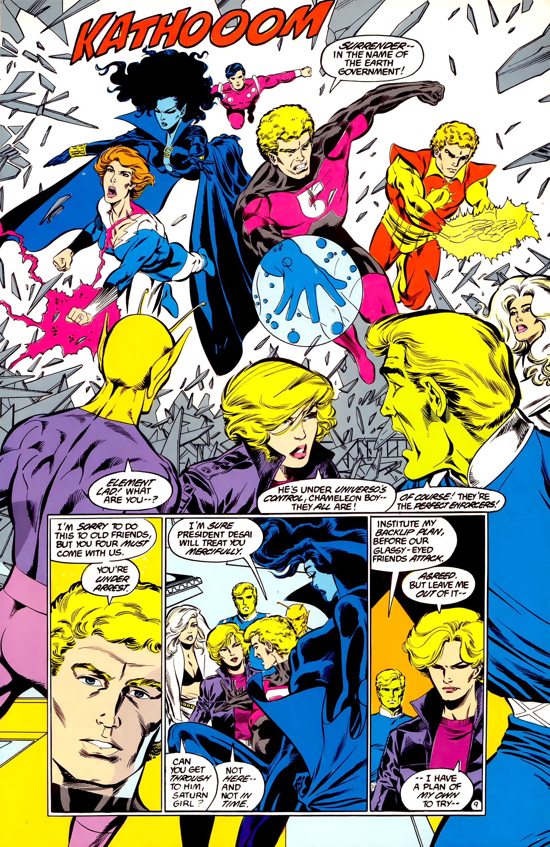 Legion of Super-Heroes (1984) 35 Page 9