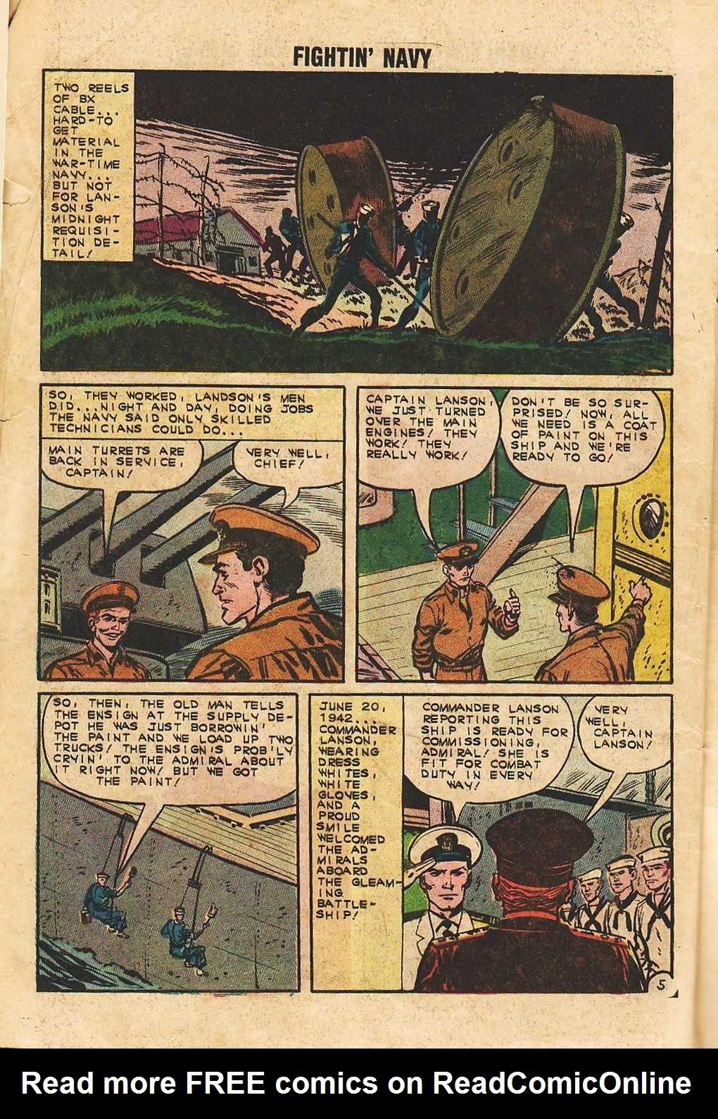 Read online Fightin' Navy comic -  Issue #105 - 8