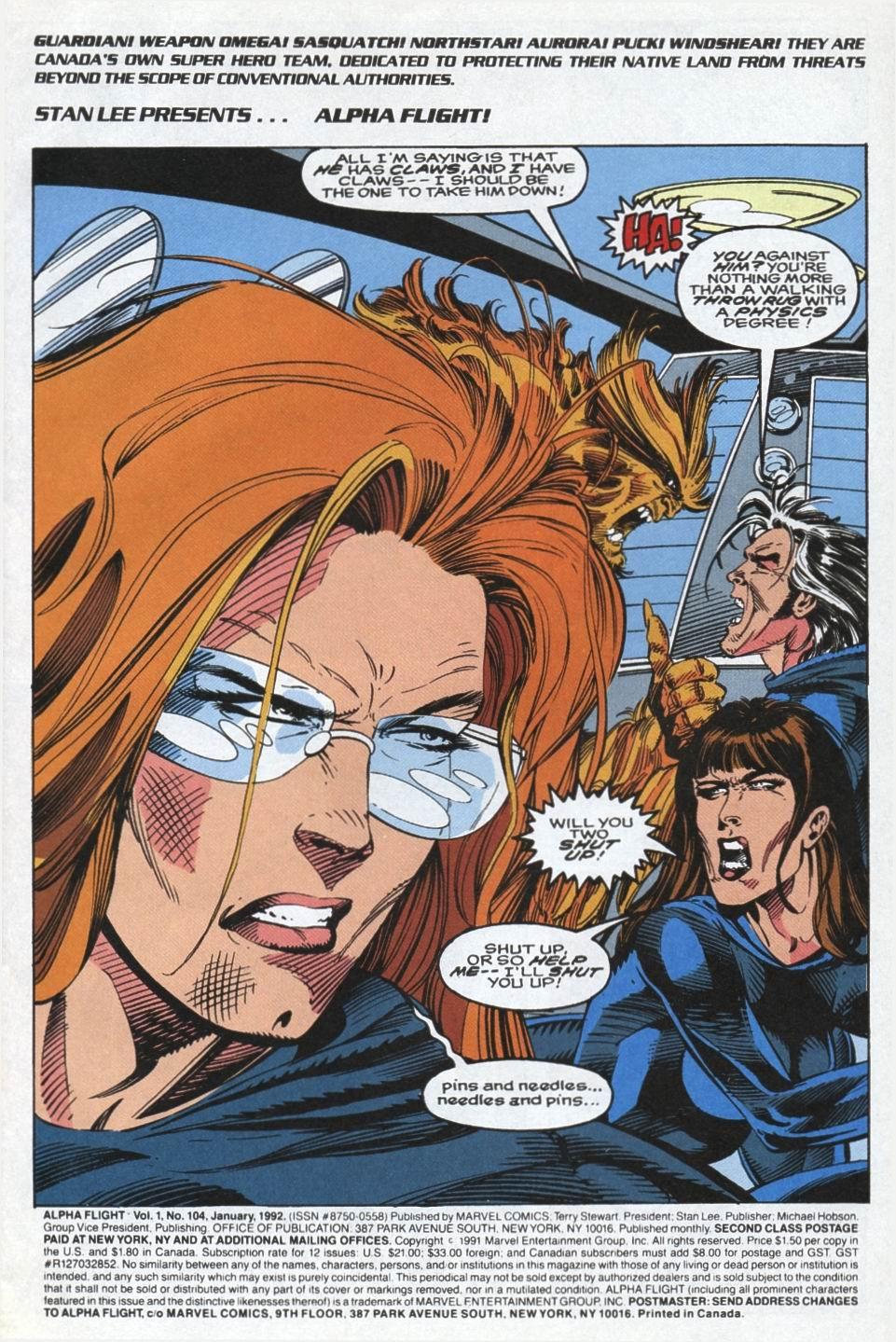 Read online Alpha Flight (1983) comic -  Issue #104 - 2