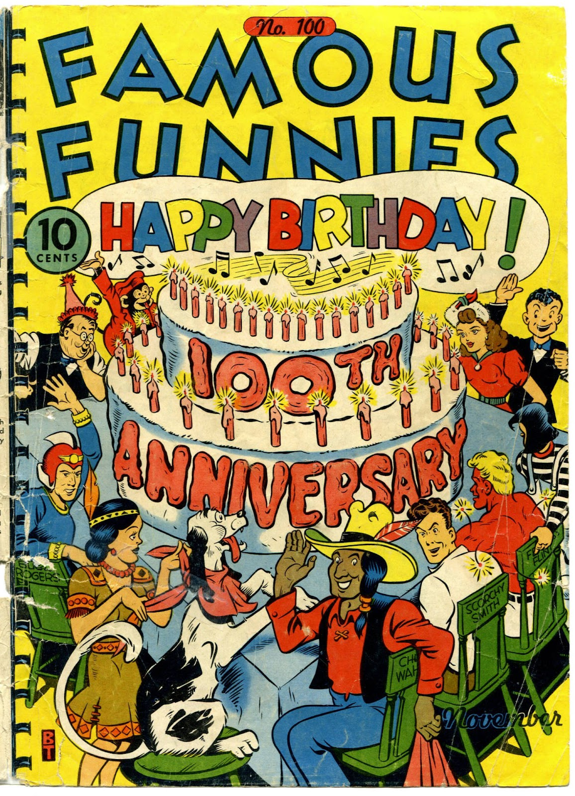 Read online Famous Funnies comic -  Issue #100 - 1