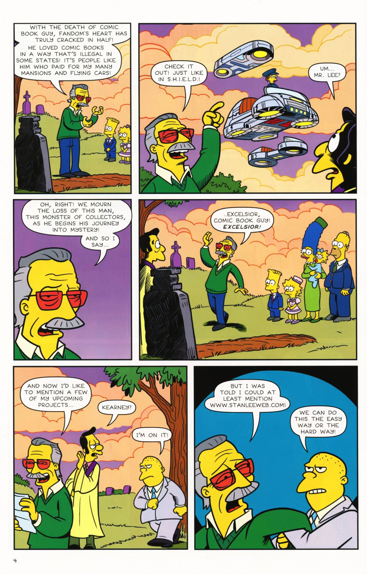 Read online Bongo Comics presents Comic Book Guy: The Comic Book comic -  Issue #2 - 6