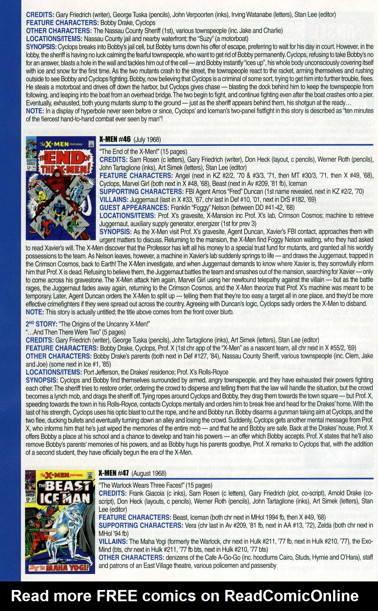 Read online Official Index to the Marvel Universe comic -  Issue #1 - 64