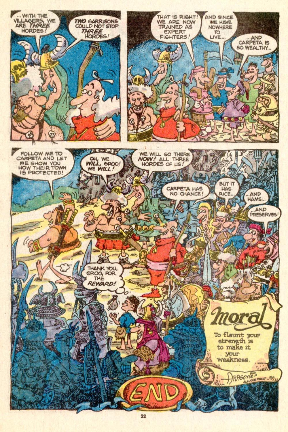 Read online Sergio Aragonés Groo the Wanderer comic -  Issue #25 - 22