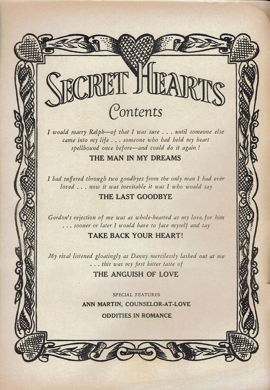 Read online Secret Hearts comic -  Issue #47 - 2