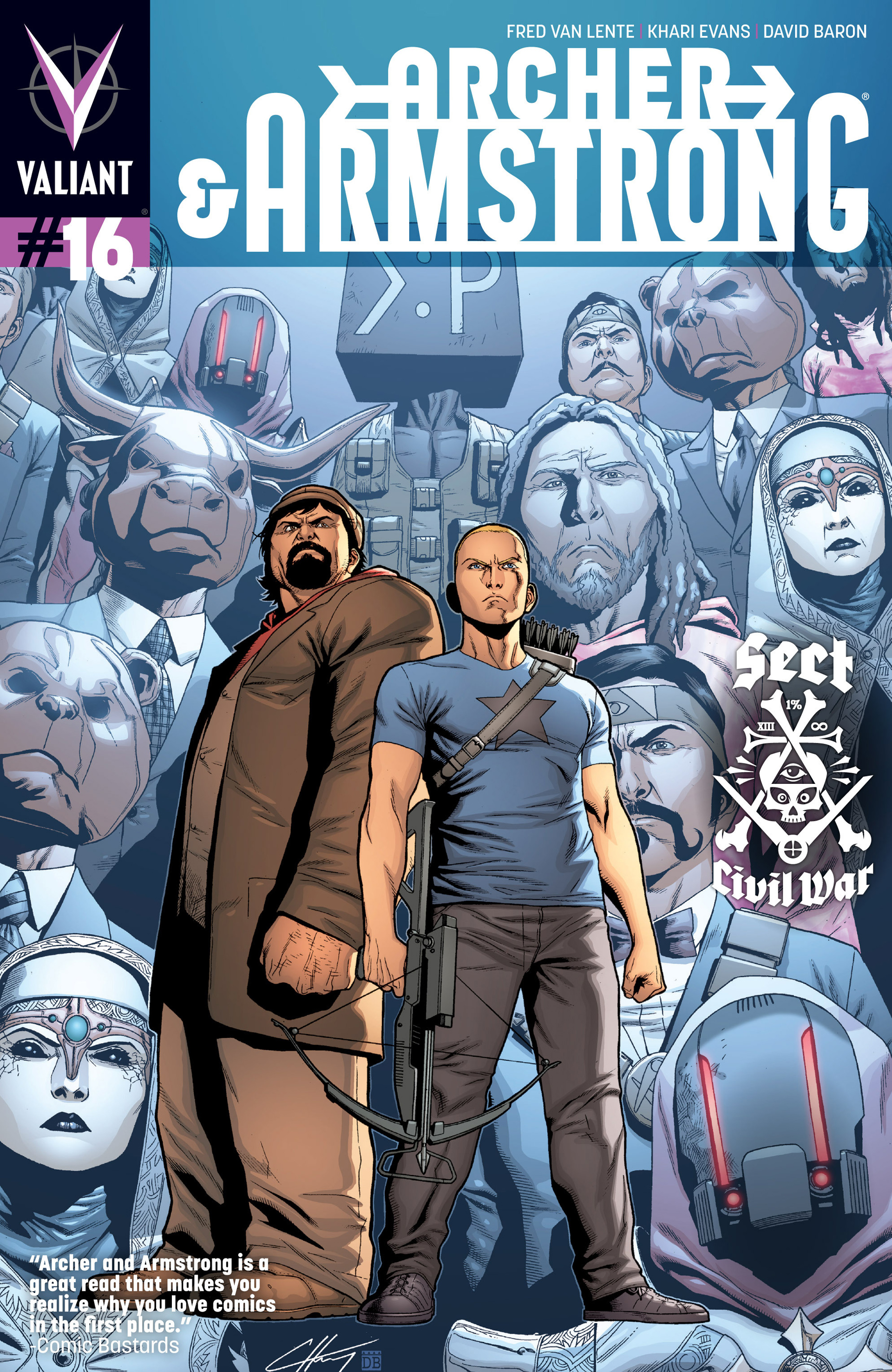 Read online Archer and Armstrong comic -  Issue #16 - 1