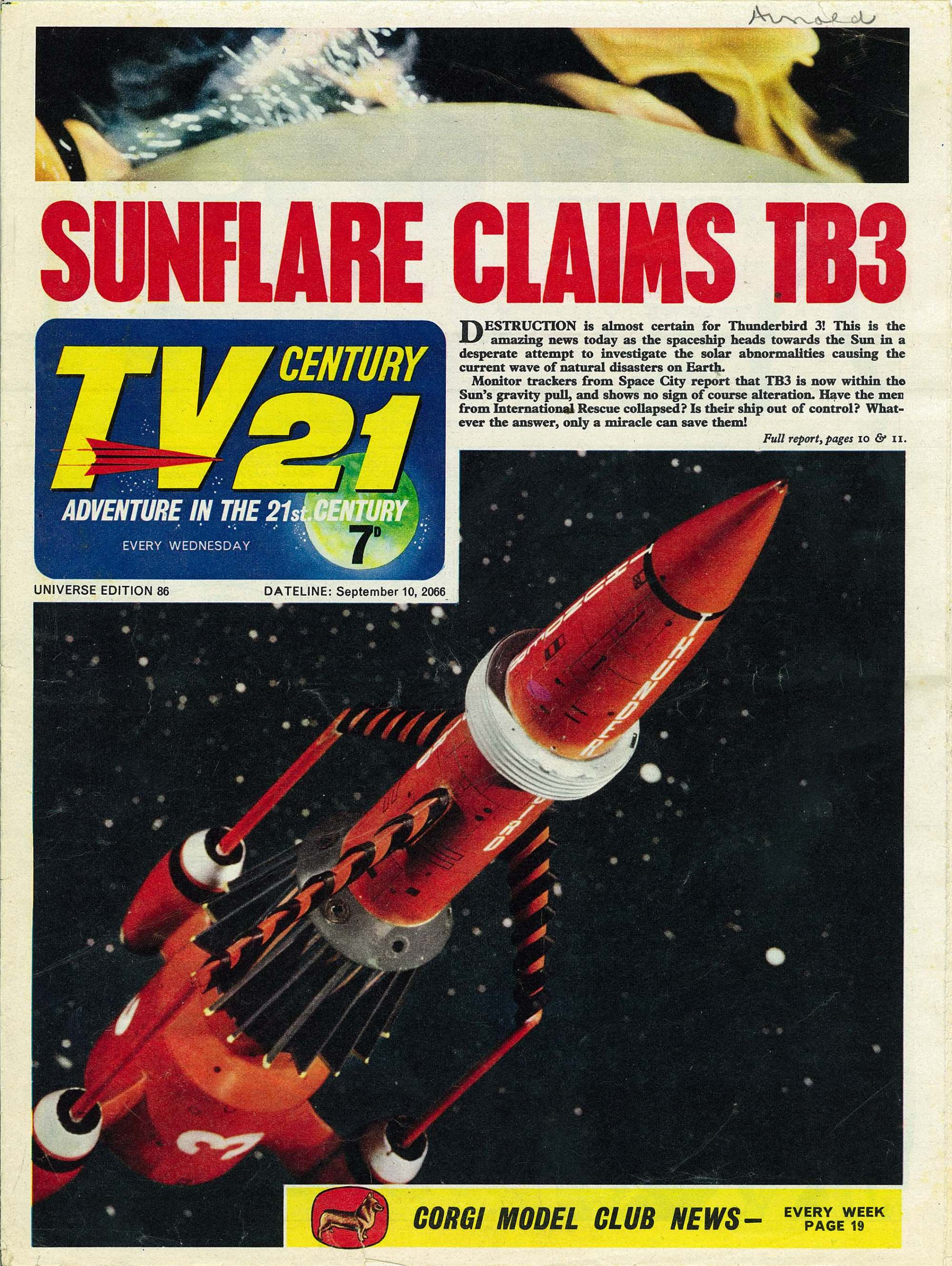 Read online TV Century 21 (TV 21) comic -  Issue #86 - 1