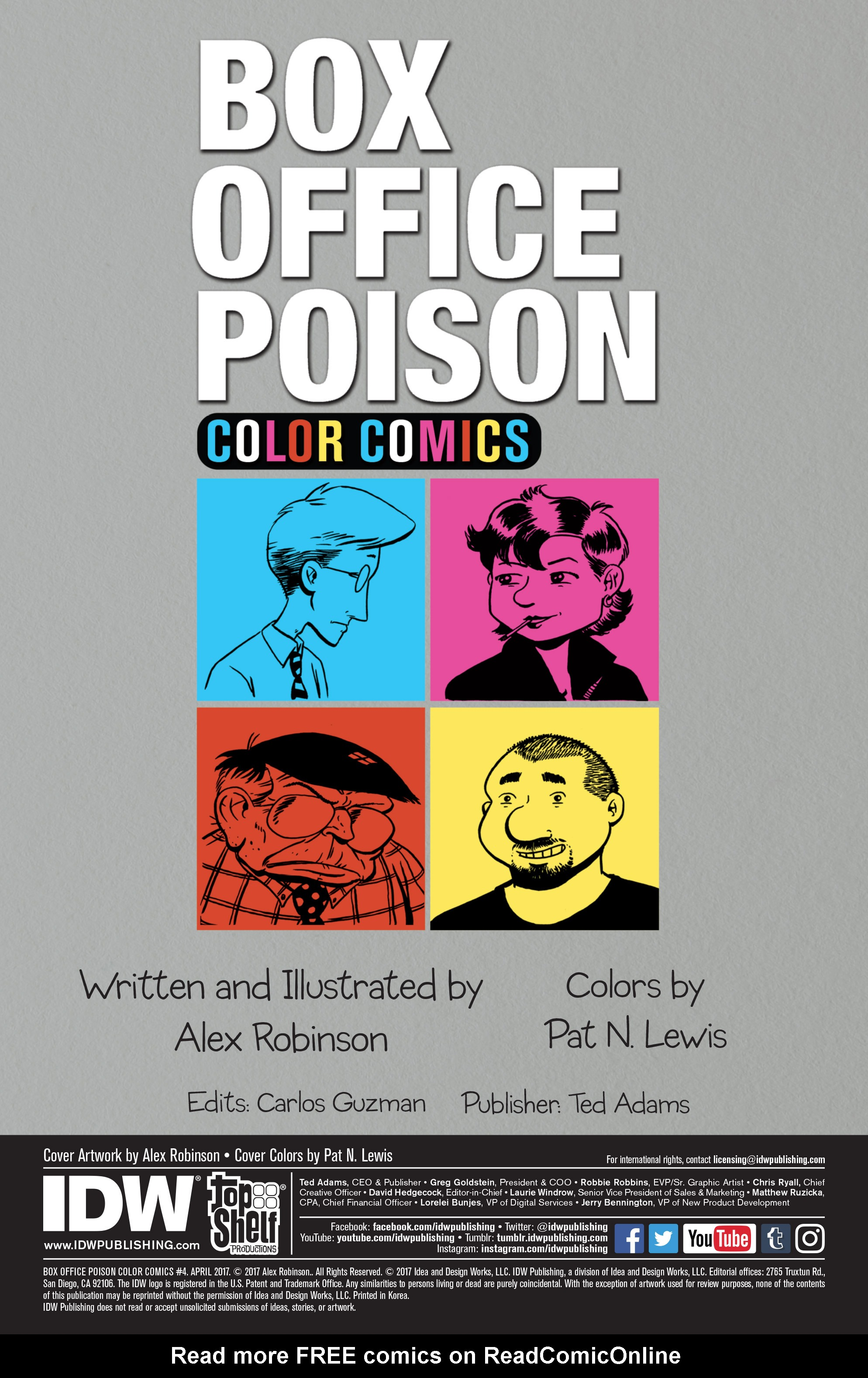 Read online Box Office Poison Color Comics comic -  Issue #4 - 2