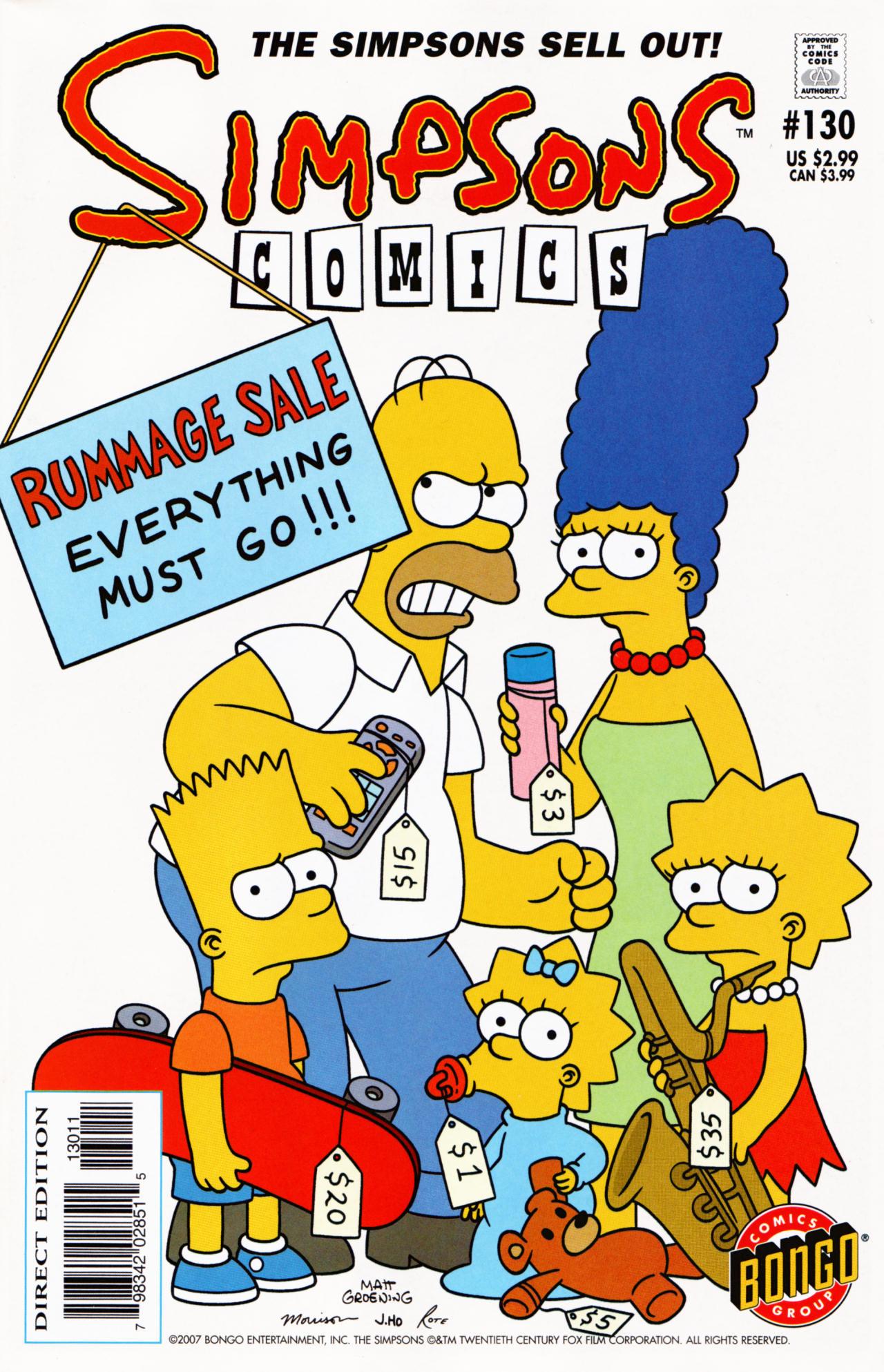 Read online Simpsons Comics comic -  Issue #130 - 1