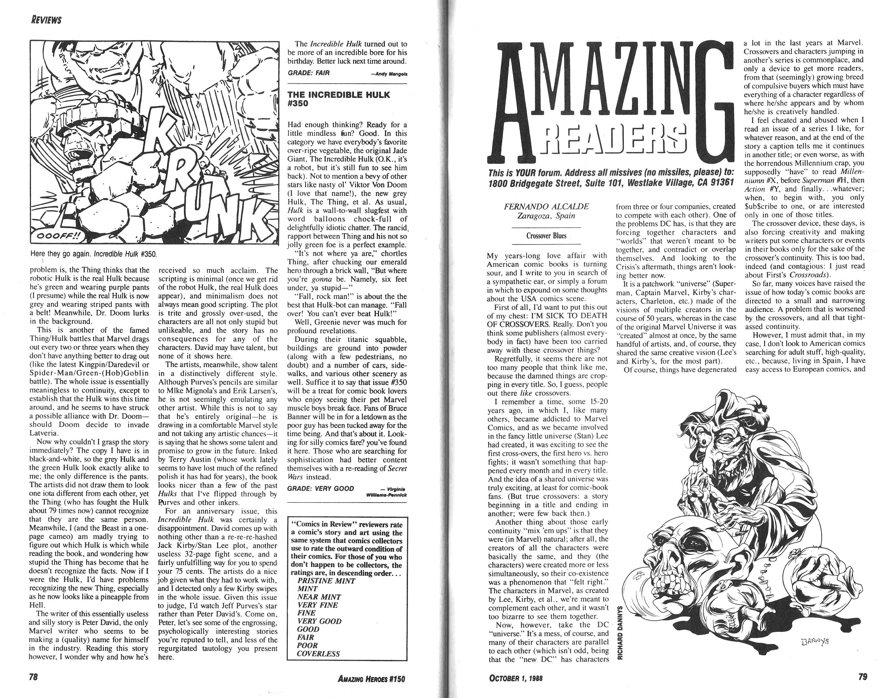 Read online Amazing Heroes comic -  Issue #150 - 40