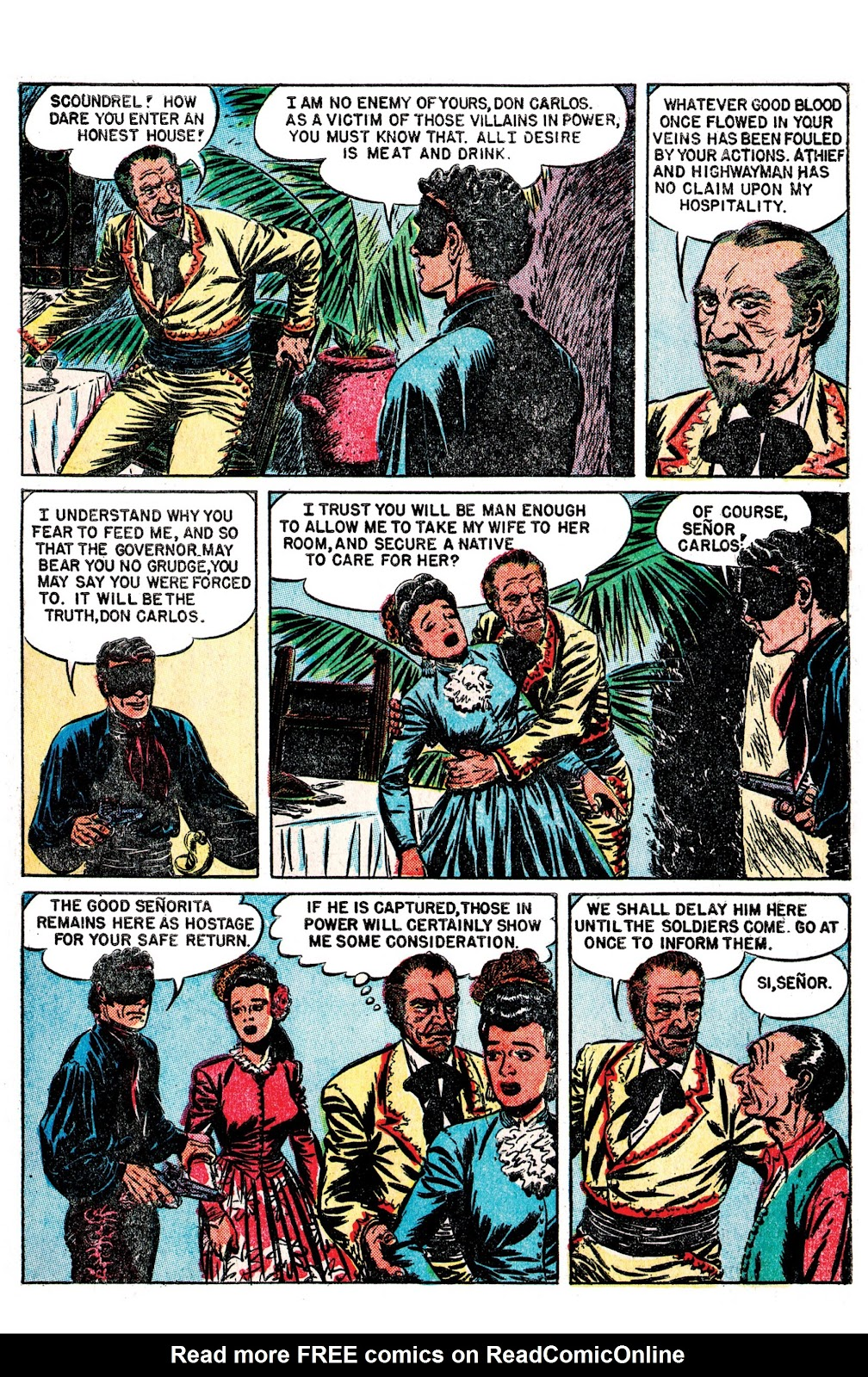 Read online AM Archives: The Mark of Zorro #1 1949 Dell Edition comic -  Issue #1 1949 Dell Edition Full - 6